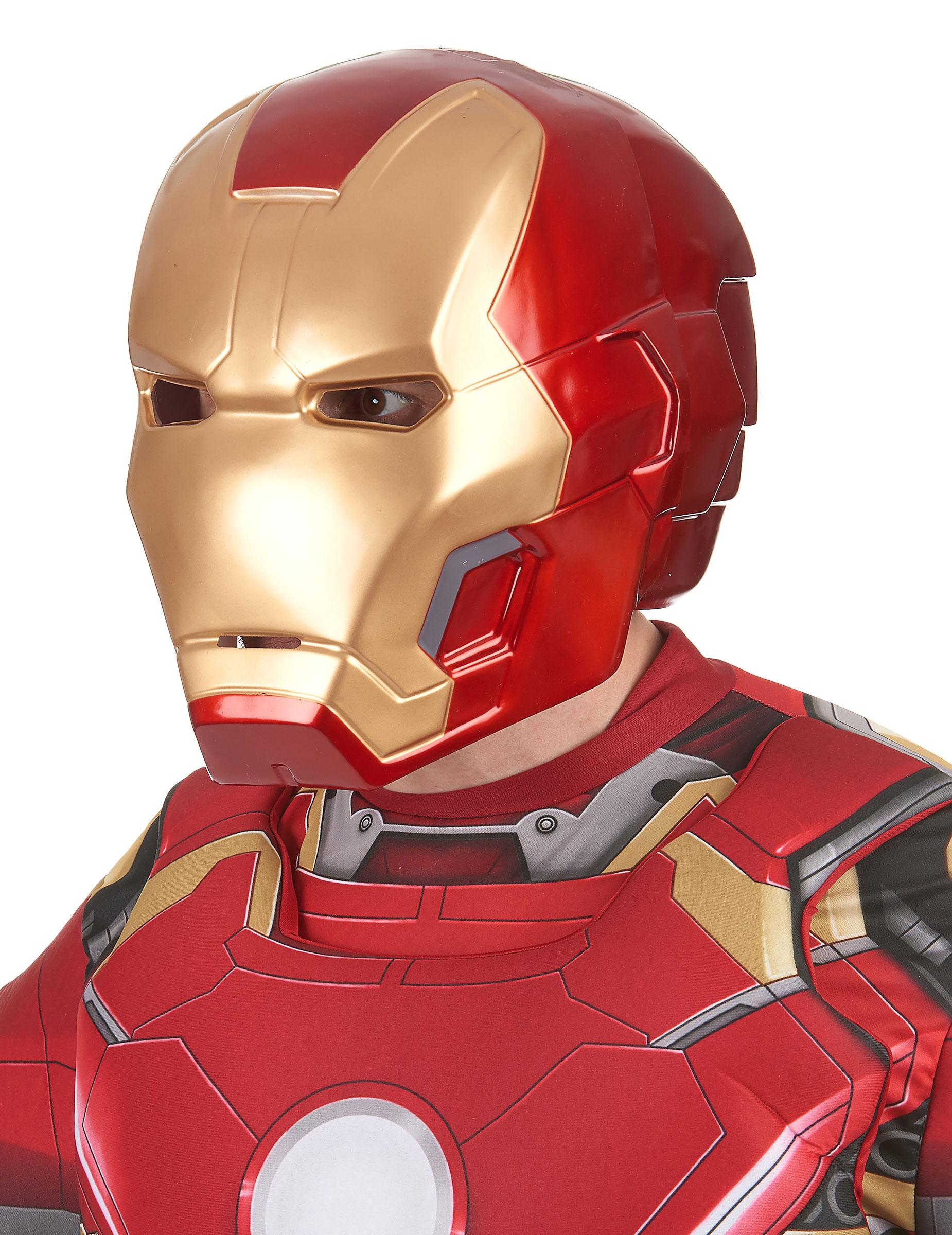 Masque 2 pi ces iron man movie 2 adulte deguise toi - Masque iron man adulte ...