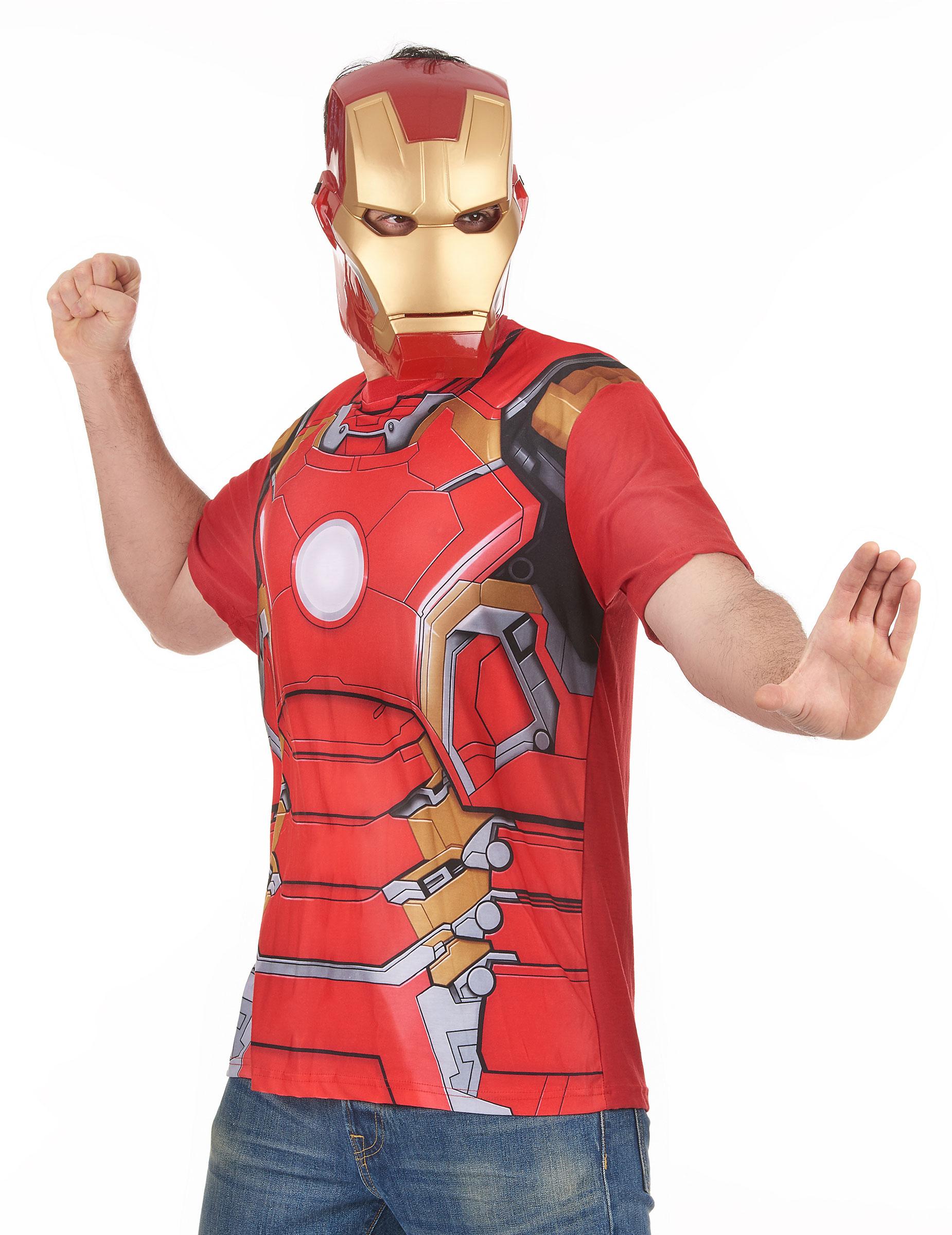 T shirt et masque adulte iron man movie 2 adulte - Masque iron man adulte ...