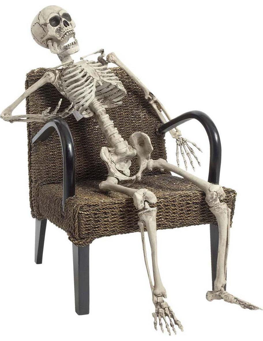 Squelette à poser 160 cm Halloween : Deguise-toi, achat de Decoration / Animation