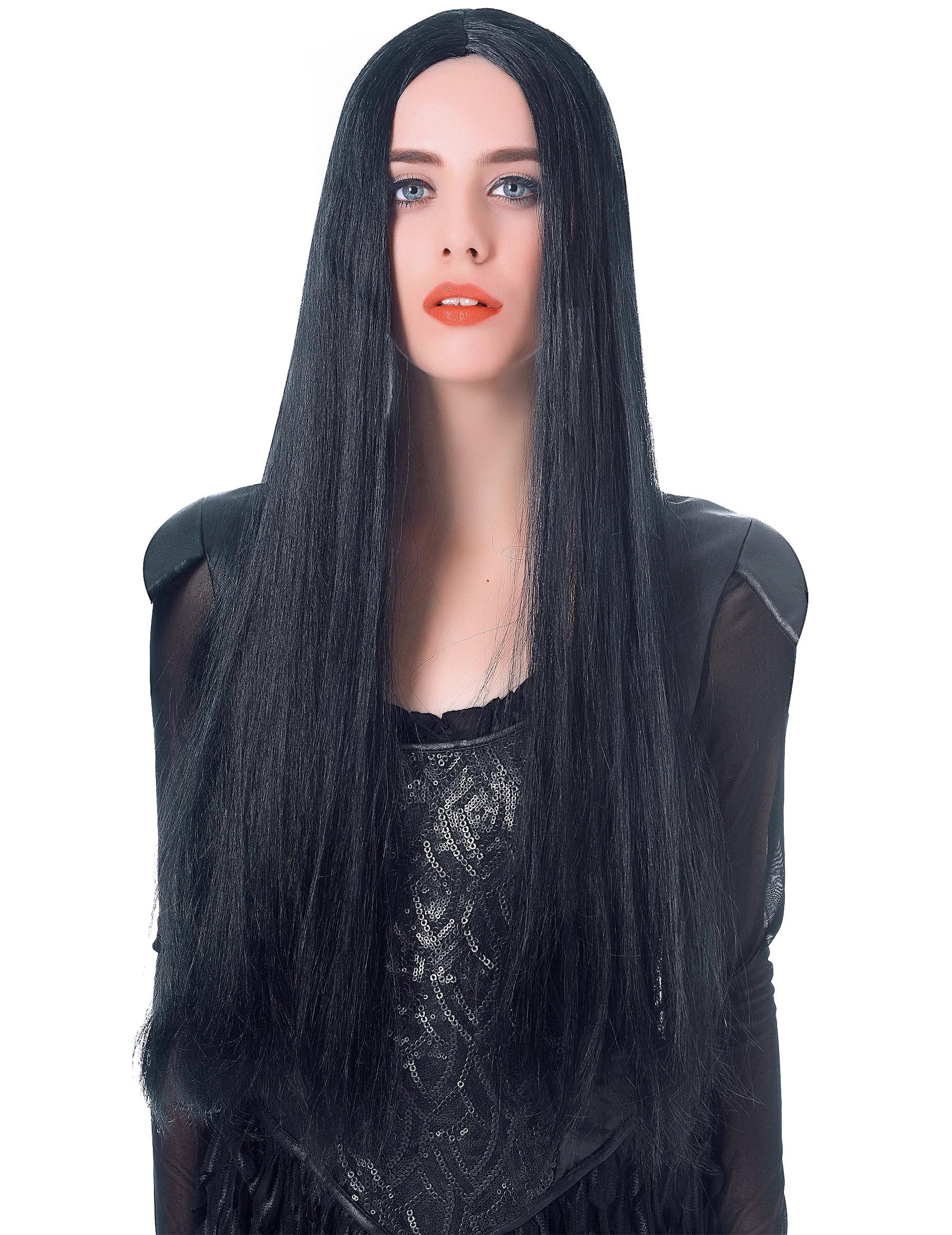 Perruque très longue noire femme - 75cm :