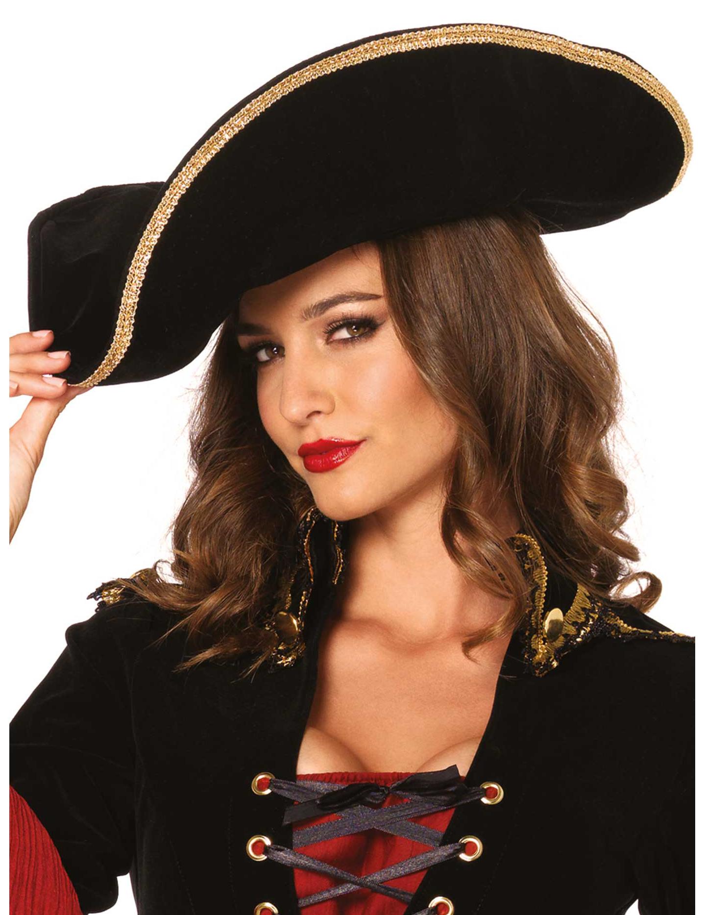 f992106c6d9f3 Chapeau pirate luxe adulte