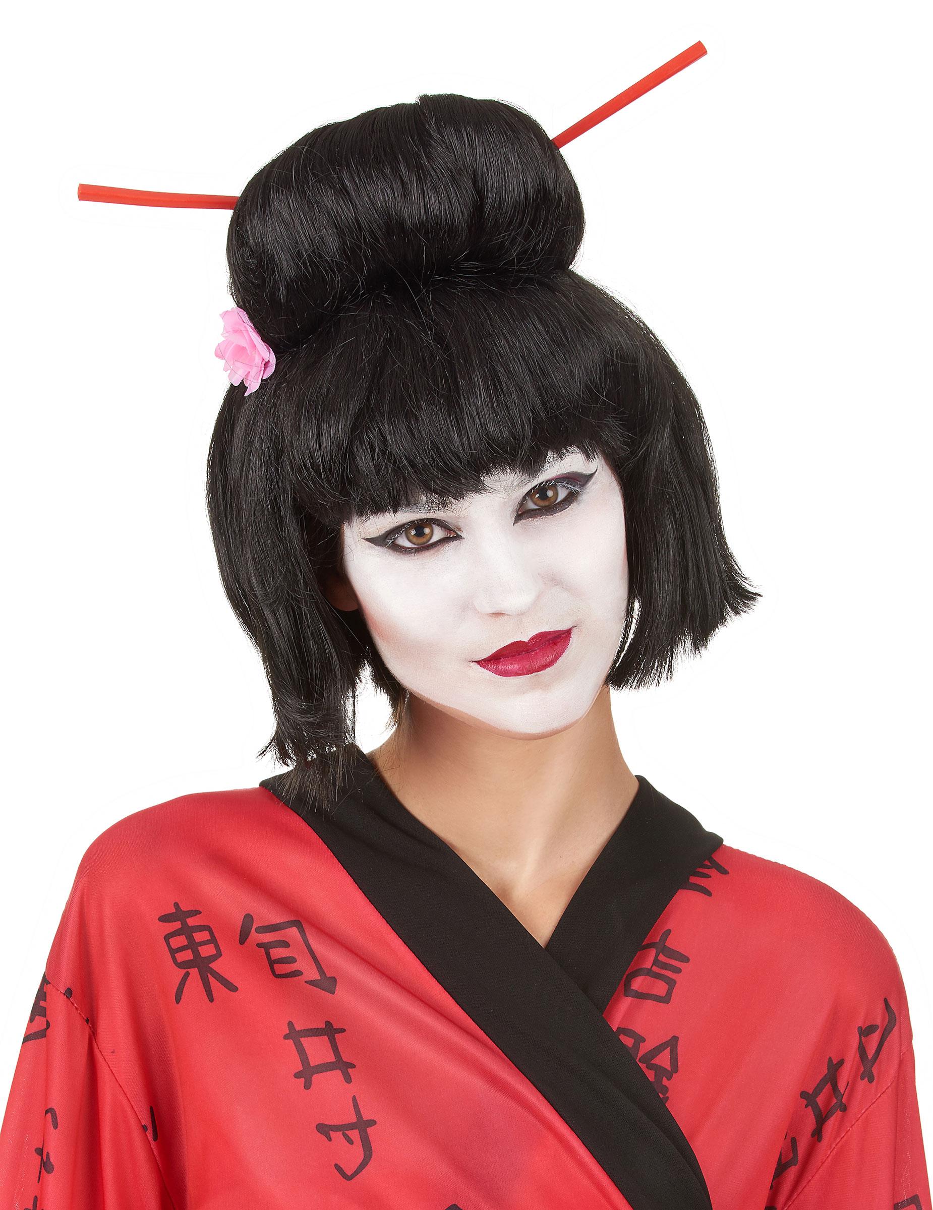 Perruque Geisha noire femme : Deguise-toi,