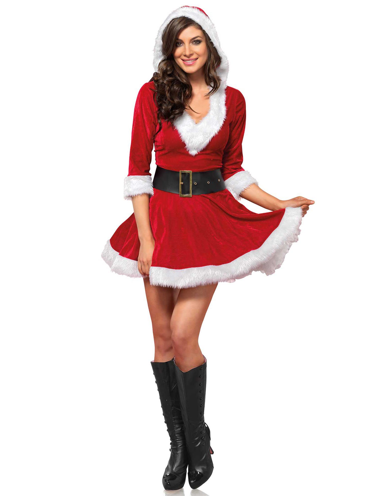 D guisement robe courte rouge femme no l deguise toi for Robes de noel uk