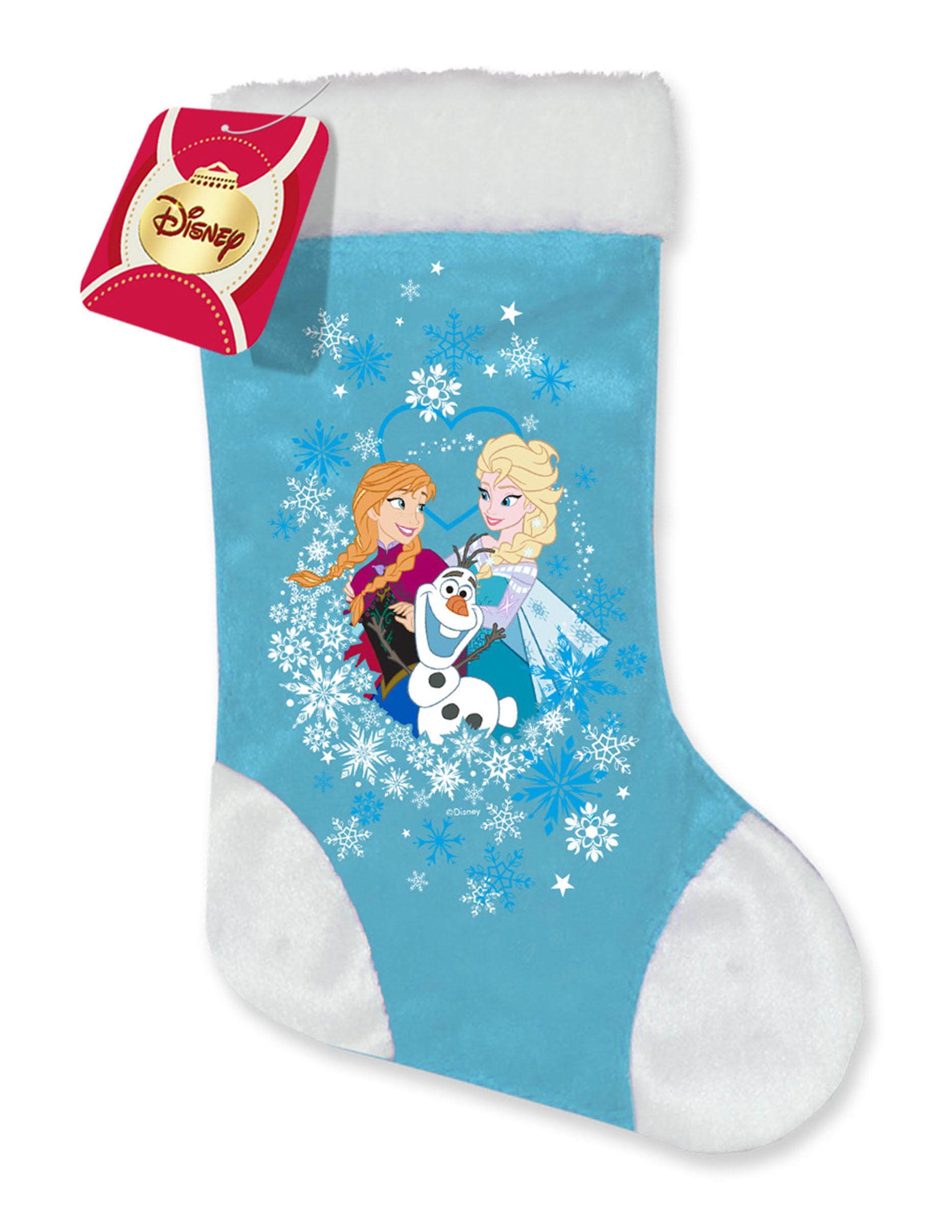 chaussette satin la reine des neiges nol - Chaussette De Noel Disney