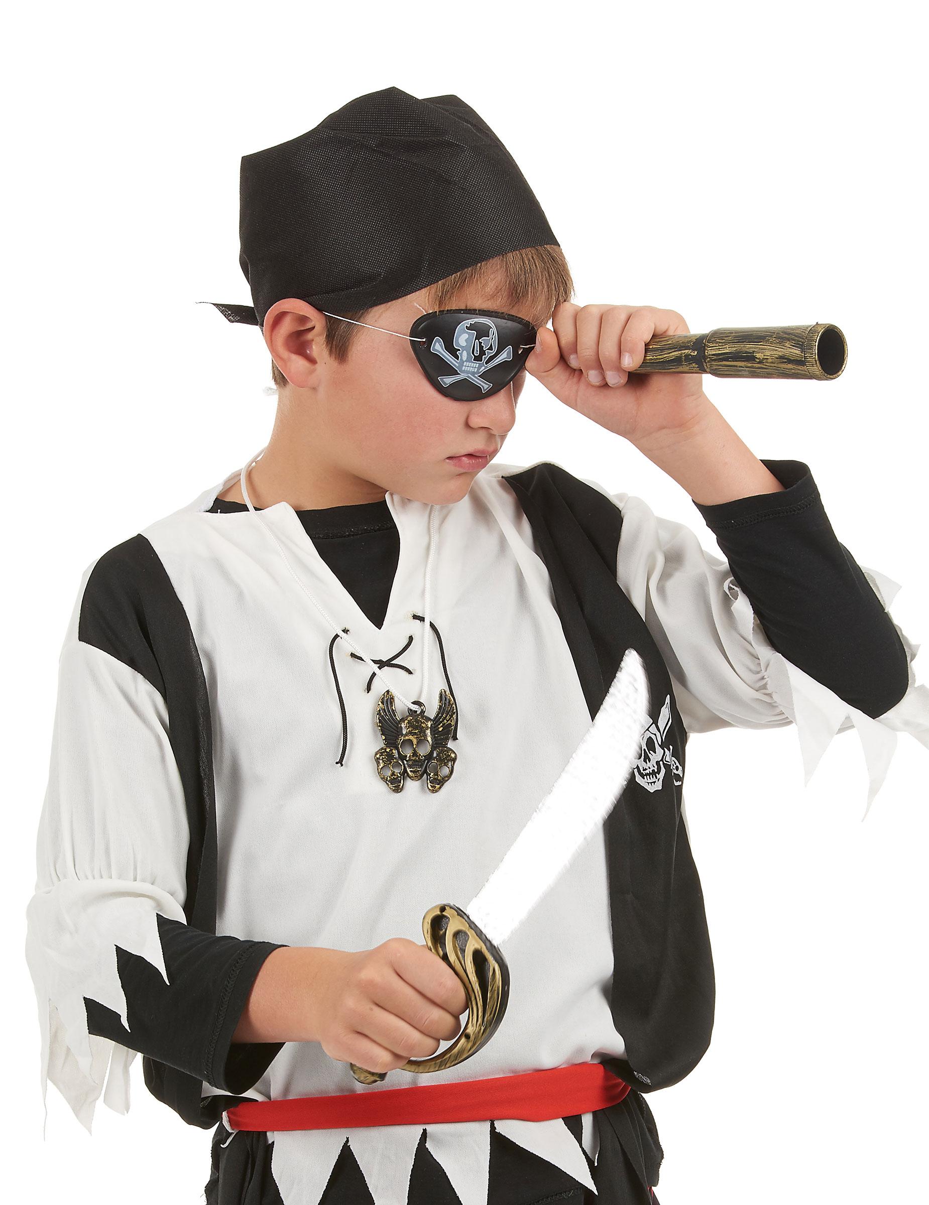 4ccc7ccb09f Kit de pirate en plastique - Sabre telescope bandana insigne et cache oeil  Enfant-1