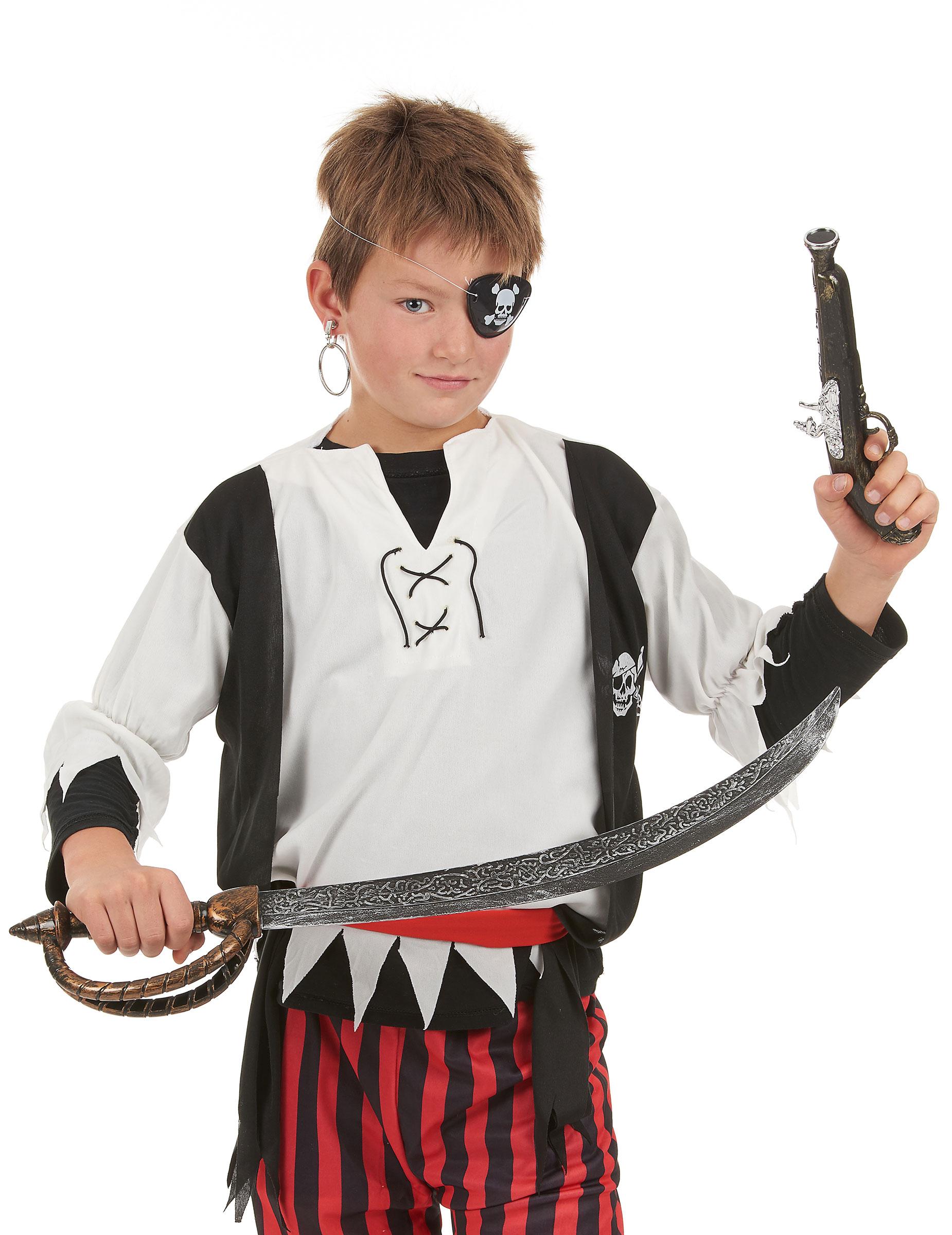 2adf7740916 Kit de pirate en plastique pour Enfant et Adulte   Deguise-toi ...