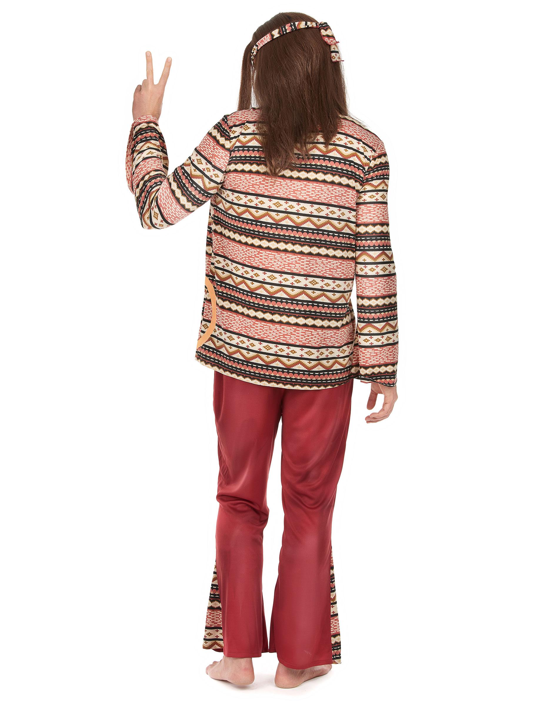 Déguisement hippie bordeaux homme   Deguise-toi, achat de ... cf2e21362a71