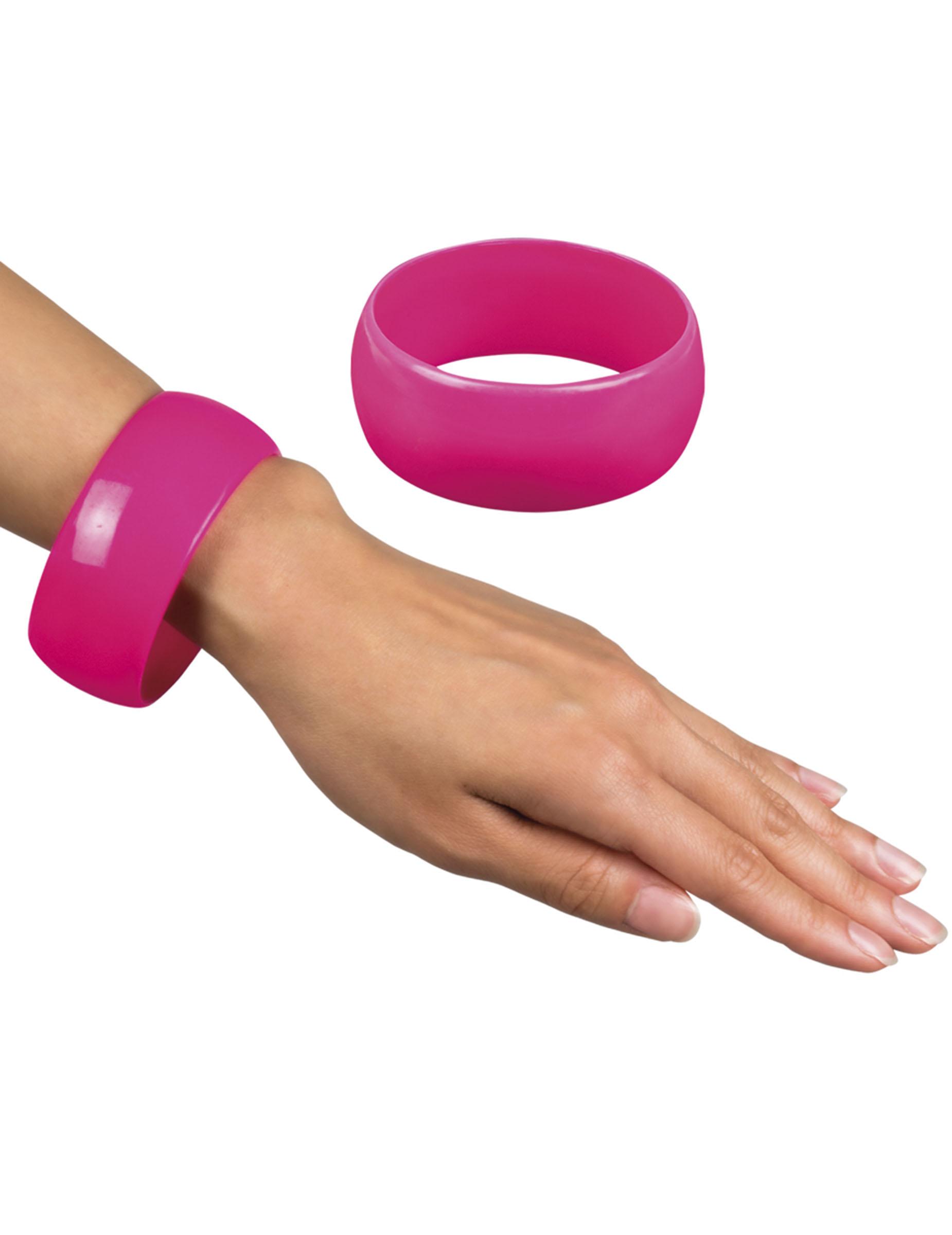 bracelet large rose femme deguise toi achat de accessoires. Black Bedroom Furniture Sets. Home Design Ideas