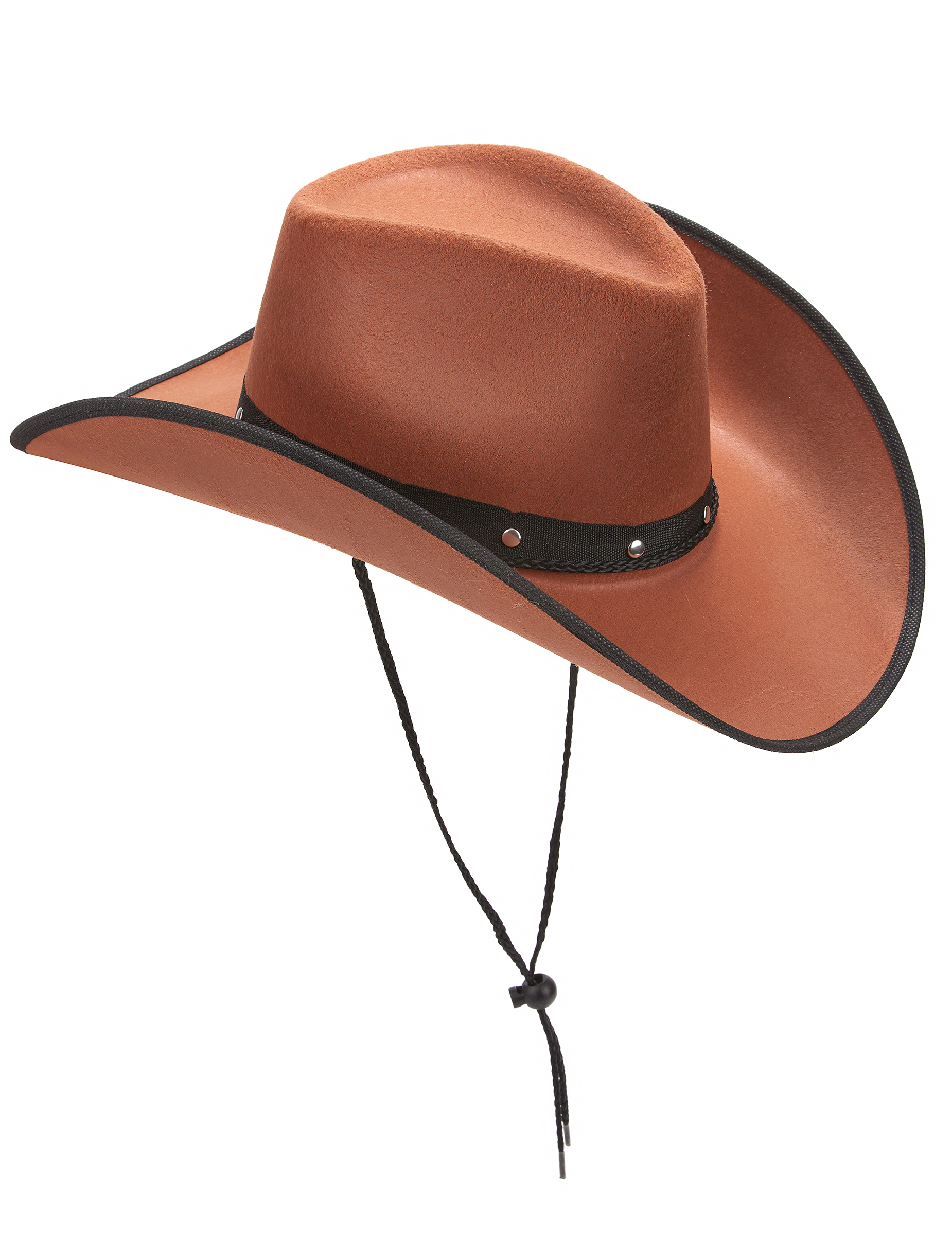 rechercher l'original super service conception populaire Chapeau cowboy marron à bordures noires adulte