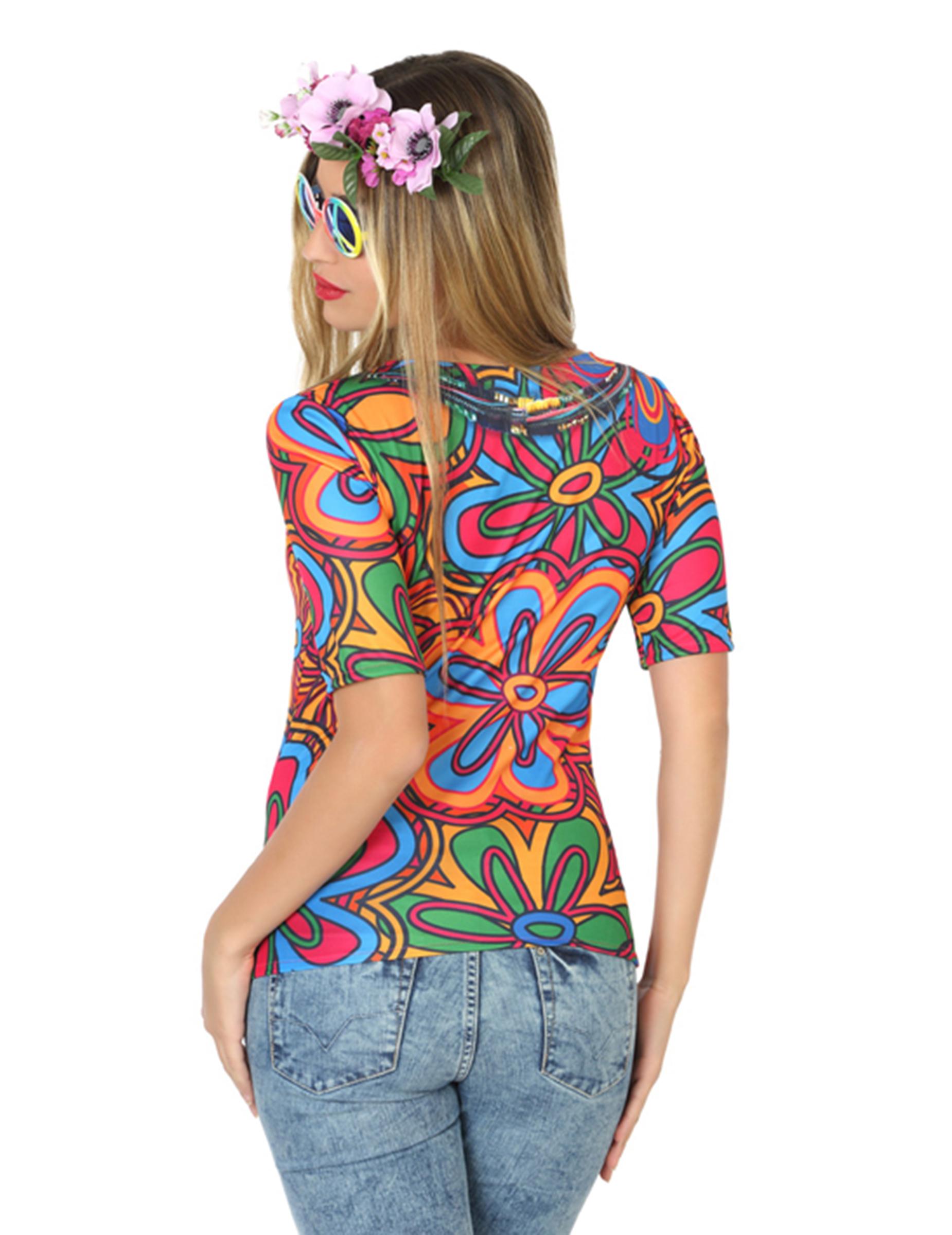 T shirt hippie femme deguise toi achat de d guisements for Hippie t shirts australia