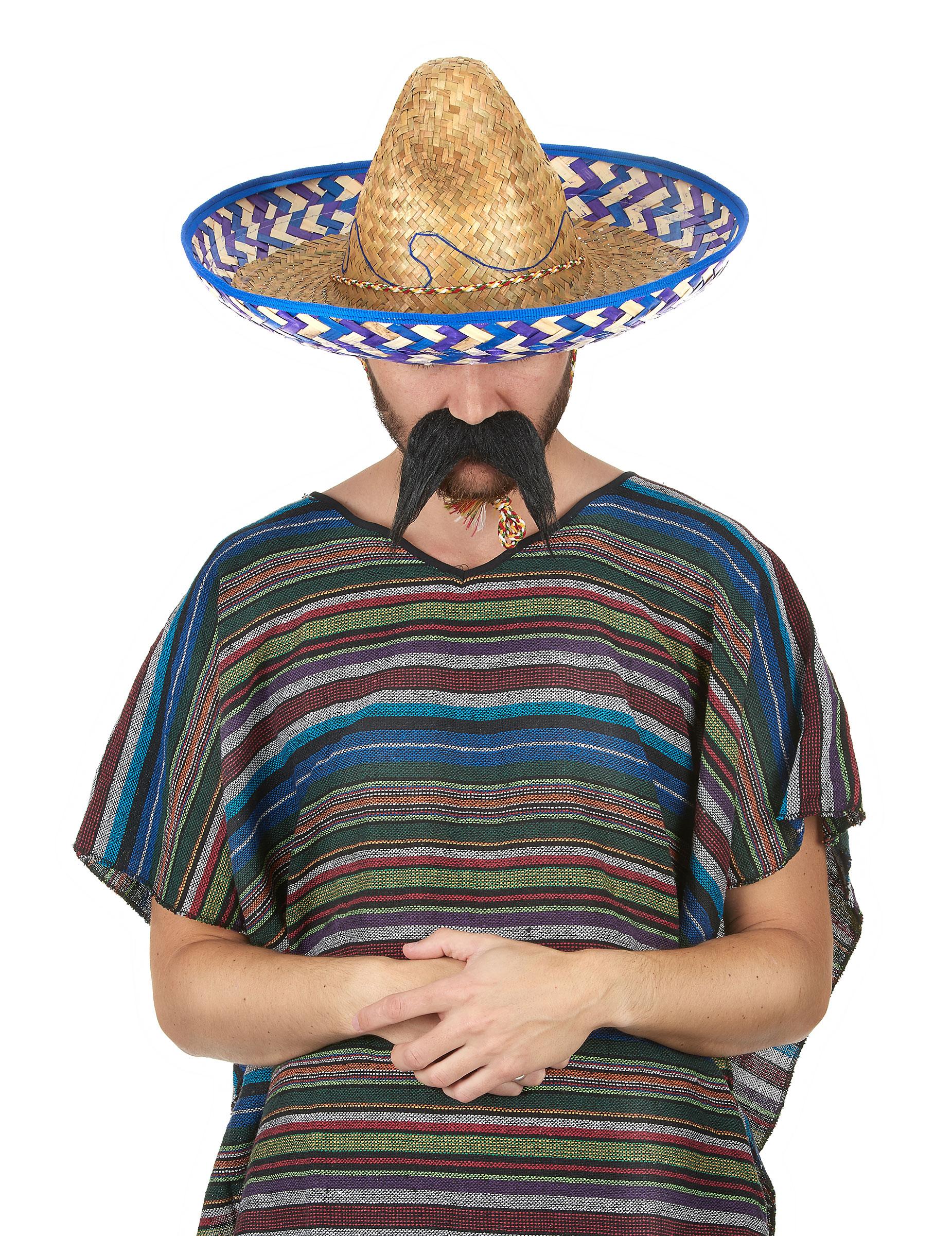 quantité limitée dessins attrayants économiser Chapeau mexicain en paille adulte