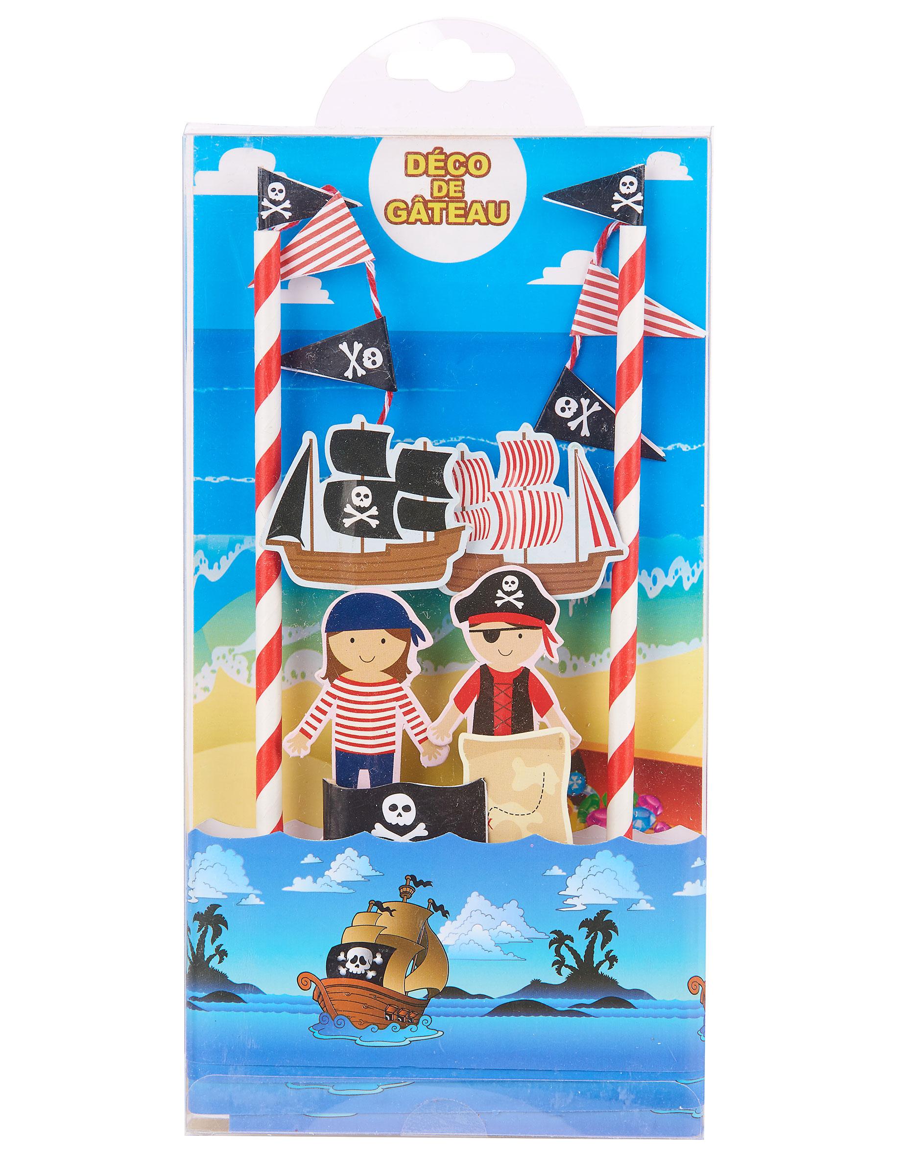 d coration pour g teau pirate deguise toi achat de decoration animation. Black Bedroom Furniture Sets. Home Design Ideas