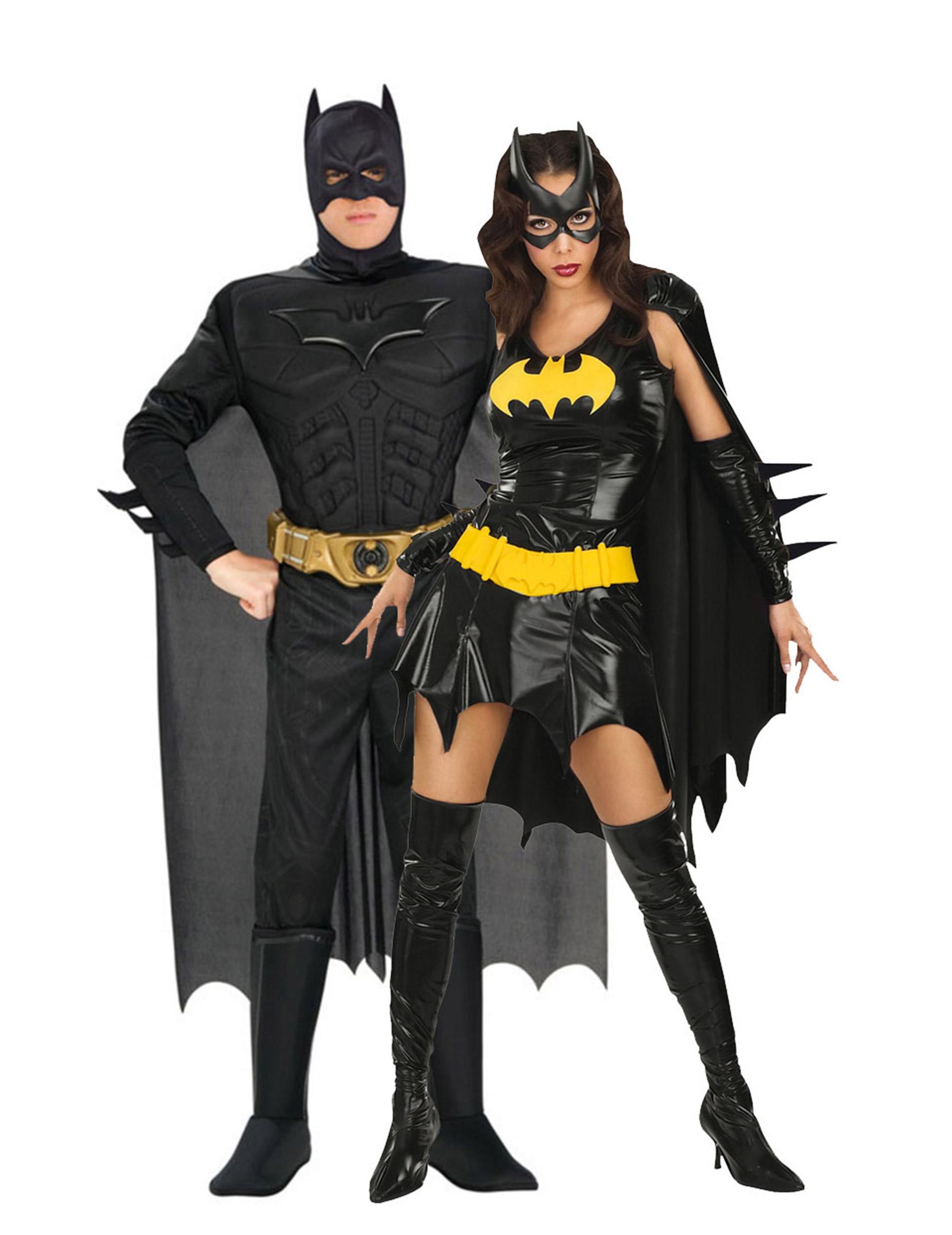 d guisement de couple batgirl batman deguise toi achat de d guisements couples. Black Bedroom Furniture Sets. Home Design Ideas