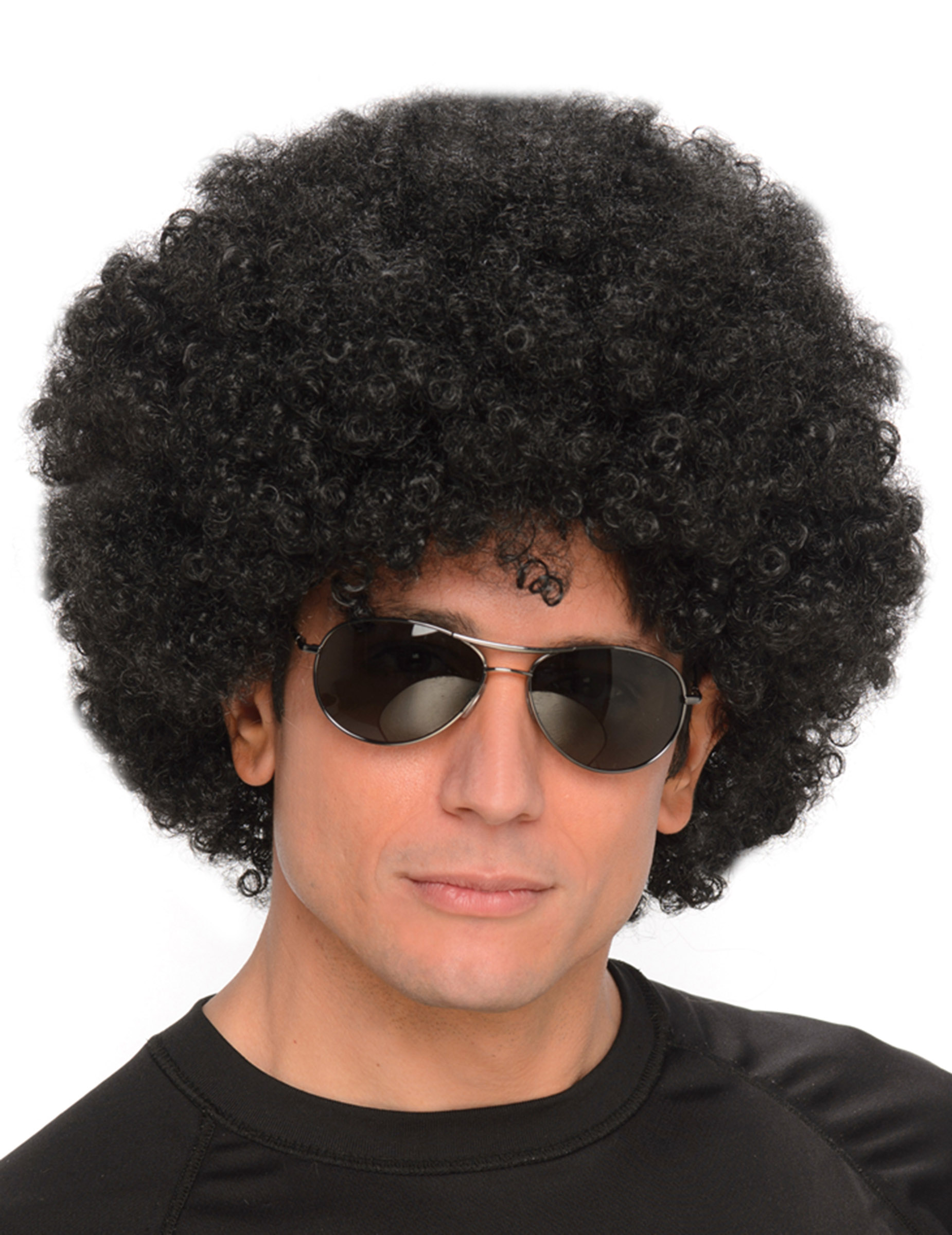 Perruque afro disco noire adulte : Deguise-