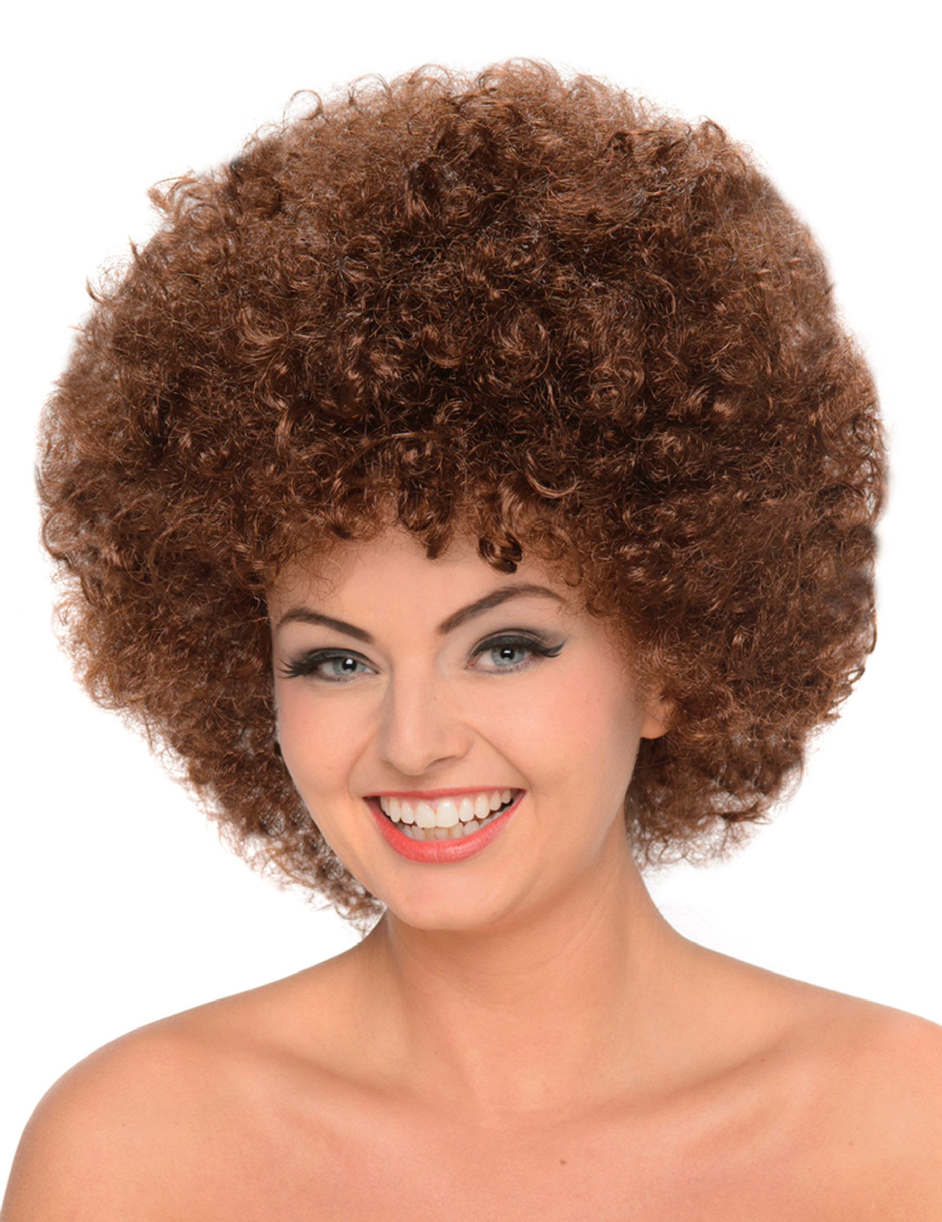 Perruque afro chatain femme : Deguise-toi,