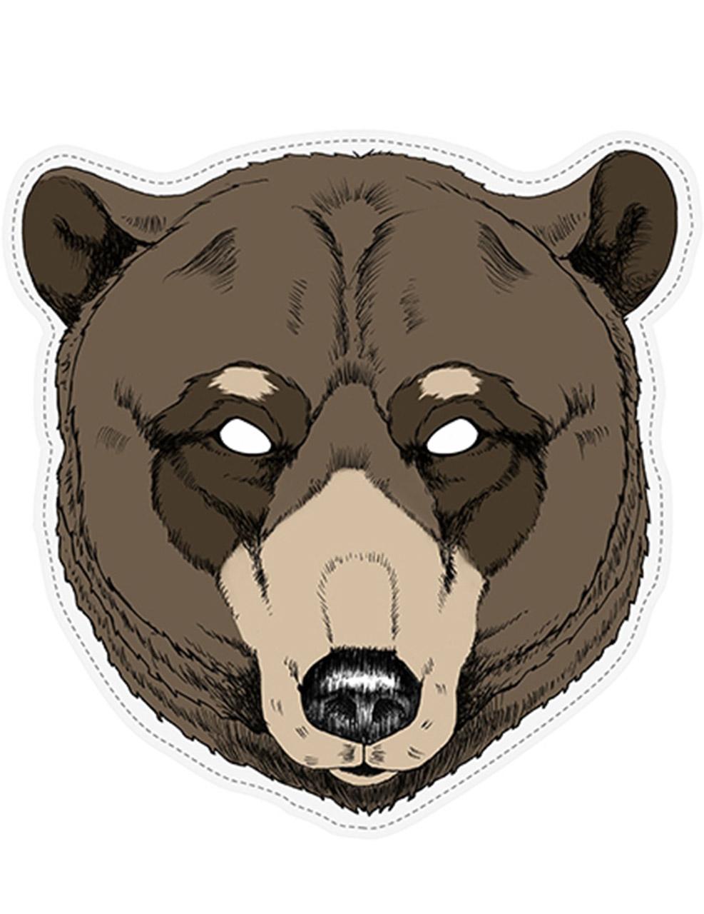 meilleur en ligne homme recherche de véritables Masque papier ours