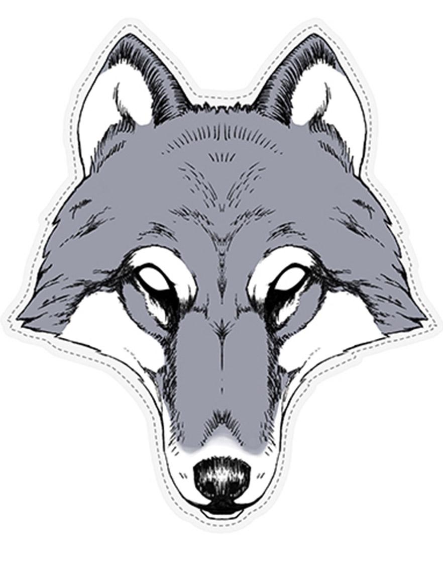 Masque papier loup deguise toi achat de masques - Masque loup a imprimer ...