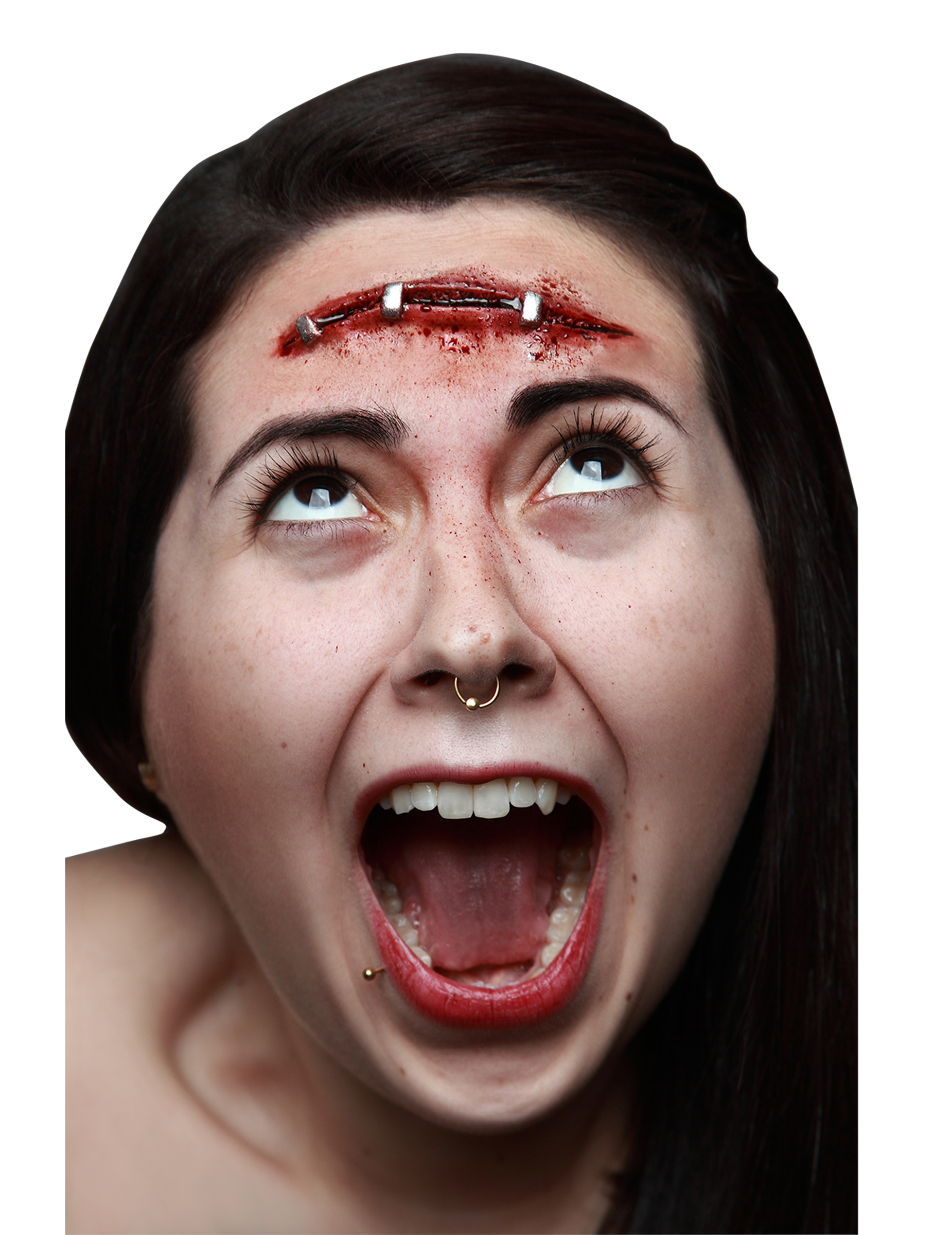 Fausse blessure cicatrice agraf e adulte halloween deguise toi achat de maquillage - Maquillage halloween cicatrice ...