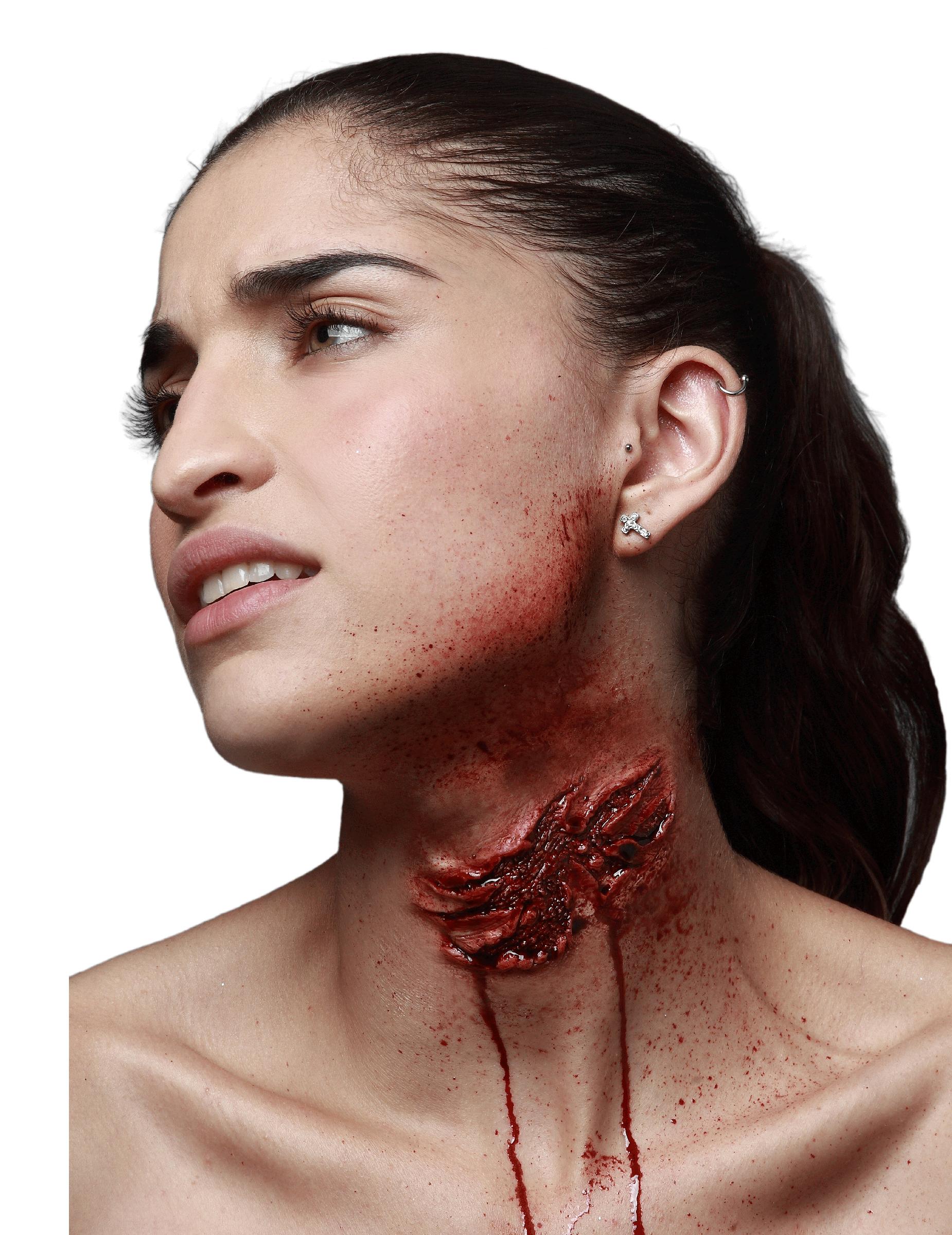 Fausse blessure morsure de zombie adulte Halloween ...