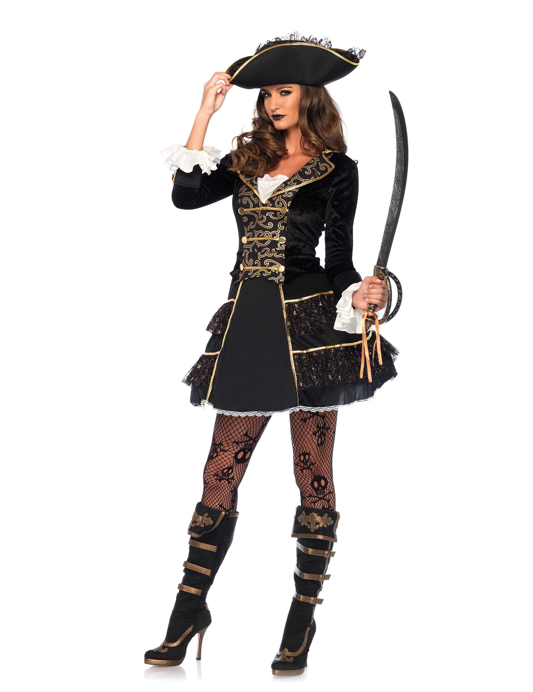d guisement capitaine pirate femme deguise toi achat de d guisements adultes. Black Bedroom Furniture Sets. Home Design Ideas