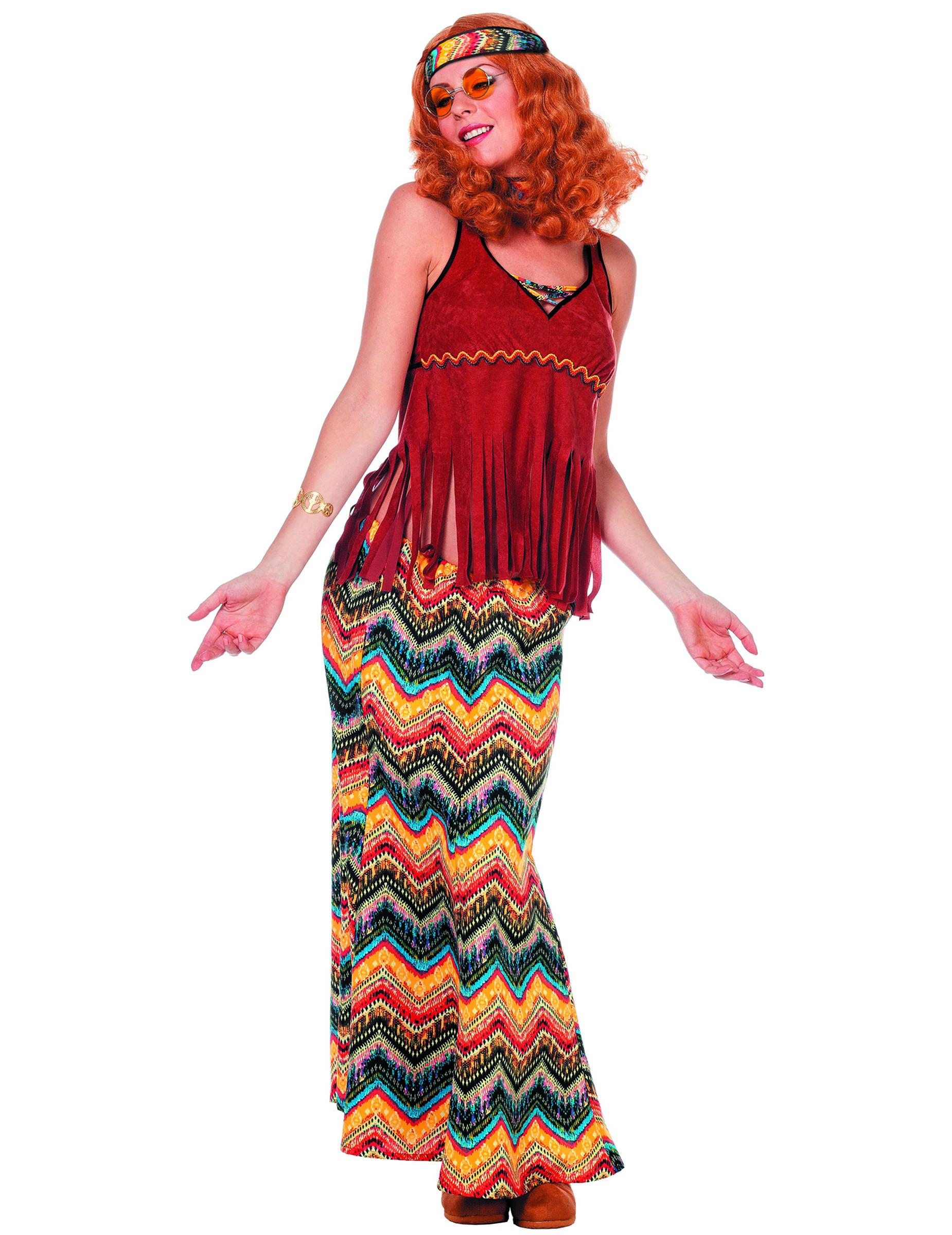 D guisement hippie ann es 70 franges femme deguise toi achat de d guisements adultes - Hippie annee 70 ...