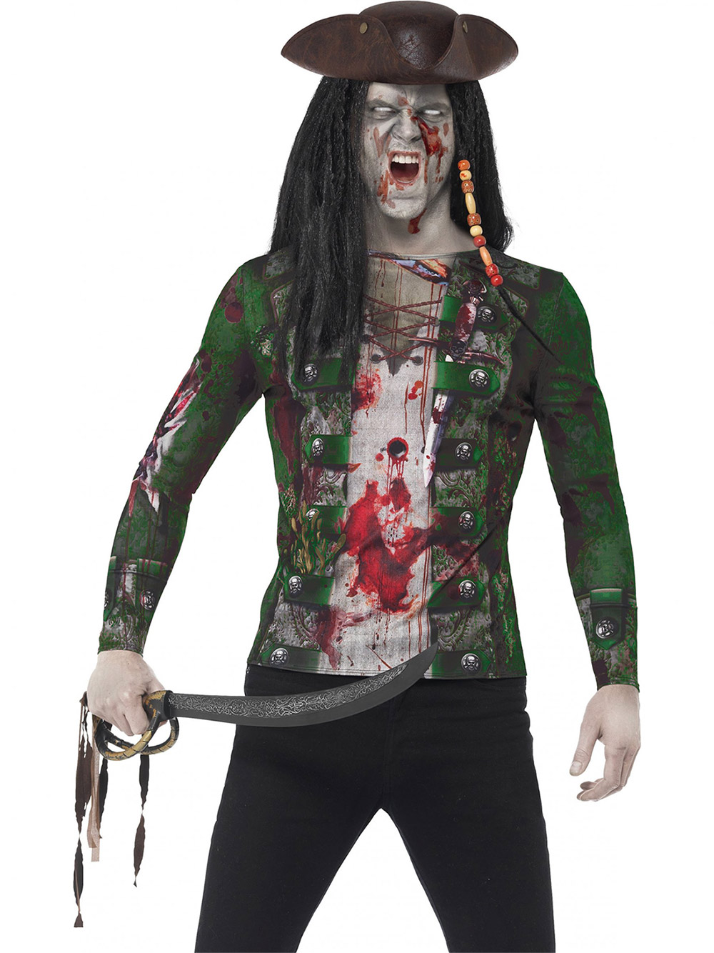 Zombie Shirt Homme Adulte T Pirate MSzVpqU