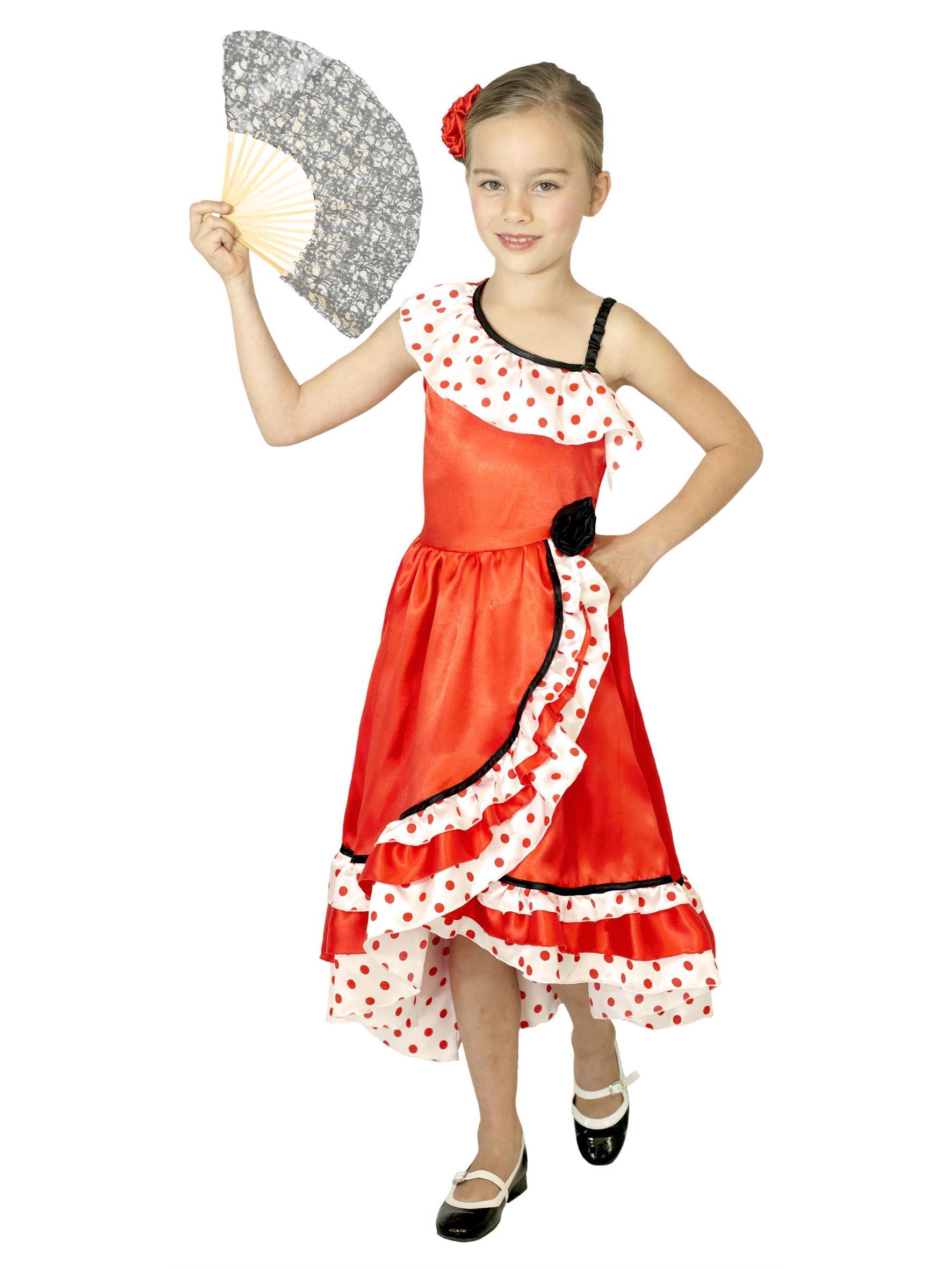 d guisement danseuse espagnole pois fille deguise toi achat de d guisements enfants. Black Bedroom Furniture Sets. Home Design Ideas