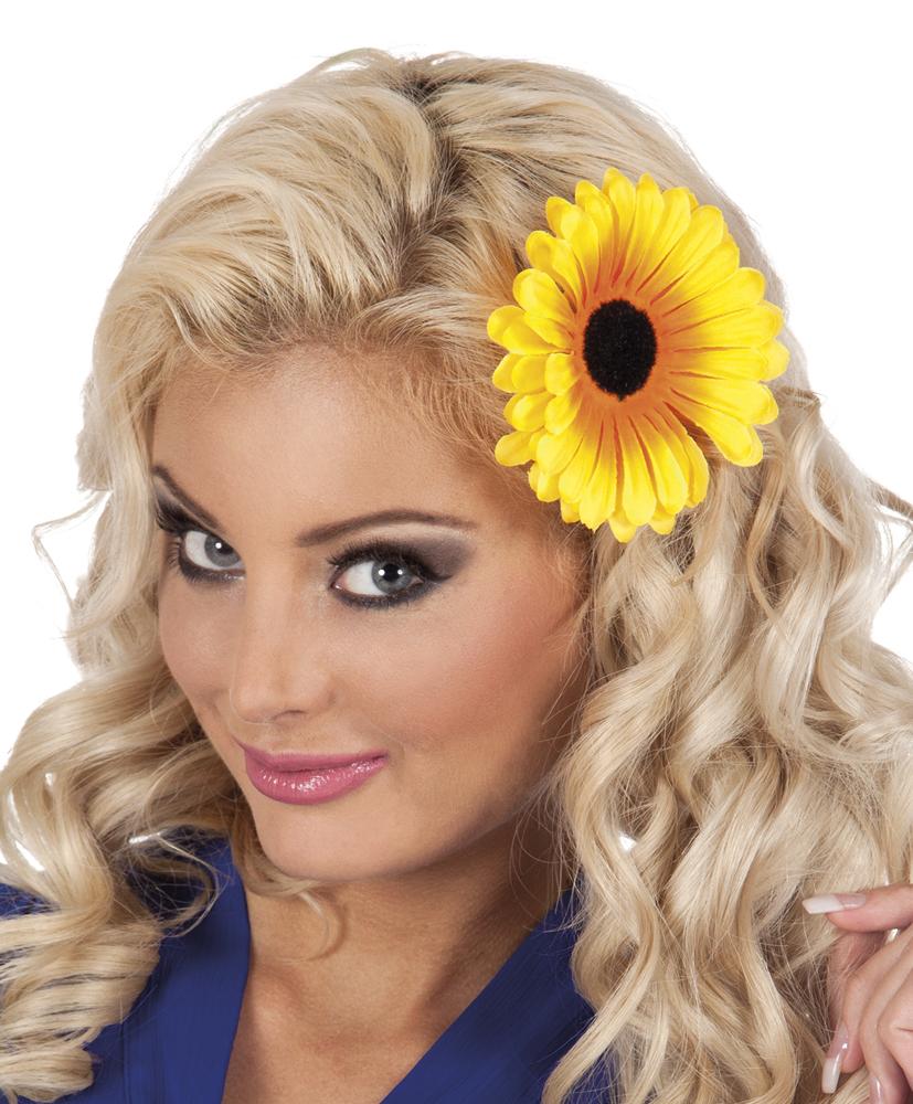 fleur tournesol pour cheveux femme deguise toi achat de accessoires. Black Bedroom Furniture Sets. Home Design Ideas