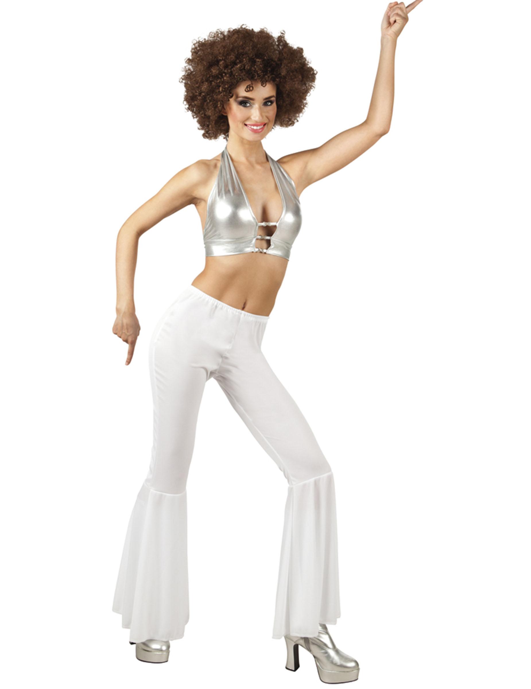 Pantalon Pantalon Blanc Pantalon Disco Disco Disco Blanc Blanc Femme Femme Femme WH2ED9IYe