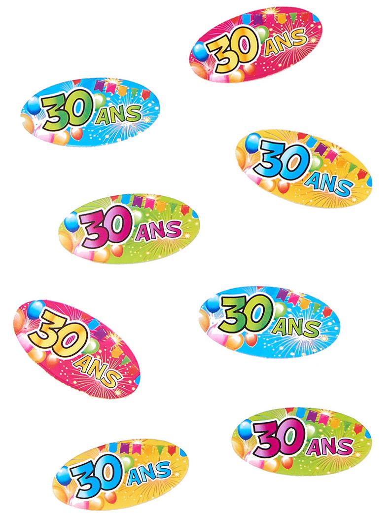 confettis de table 30 ans anniversaire fiesta deguise toi achat de decoration animation. Black Bedroom Furniture Sets. Home Design Ideas