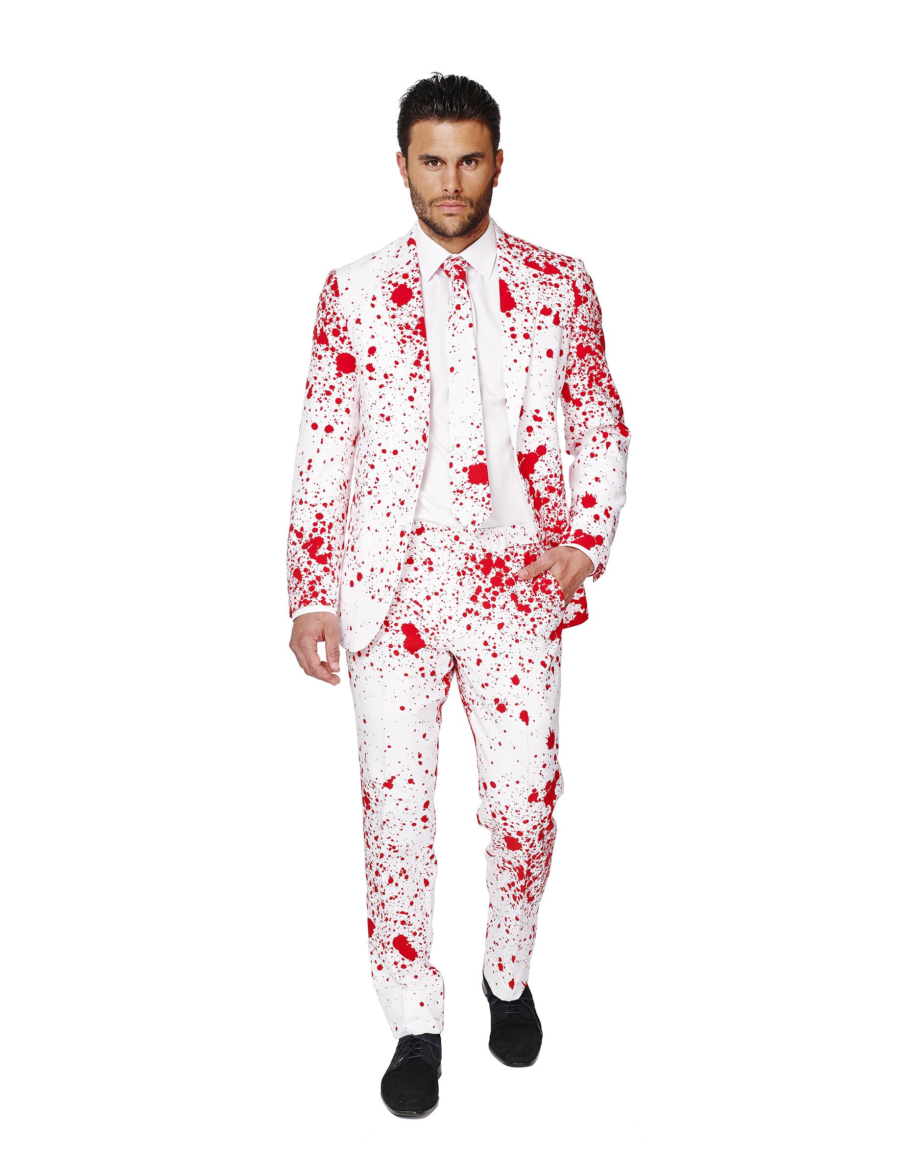 Déguisement Classe Halloween costume mr. ensanglanté homme opposuits™ : deguise-toi, achat de