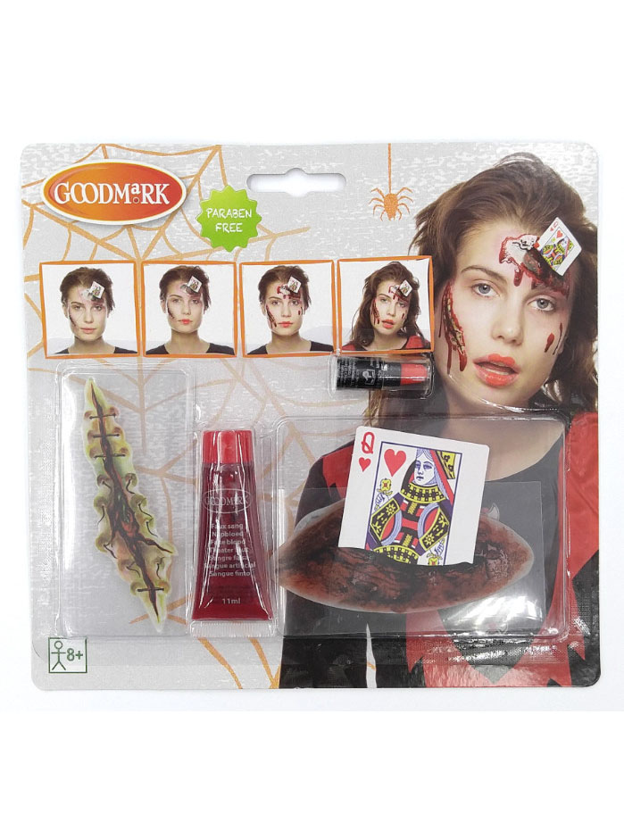 kit maquillage reine de c ur ensanglant e adulte halloween deguise toi achat de maquillage. Black Bedroom Furniture Sets. Home Design Ideas