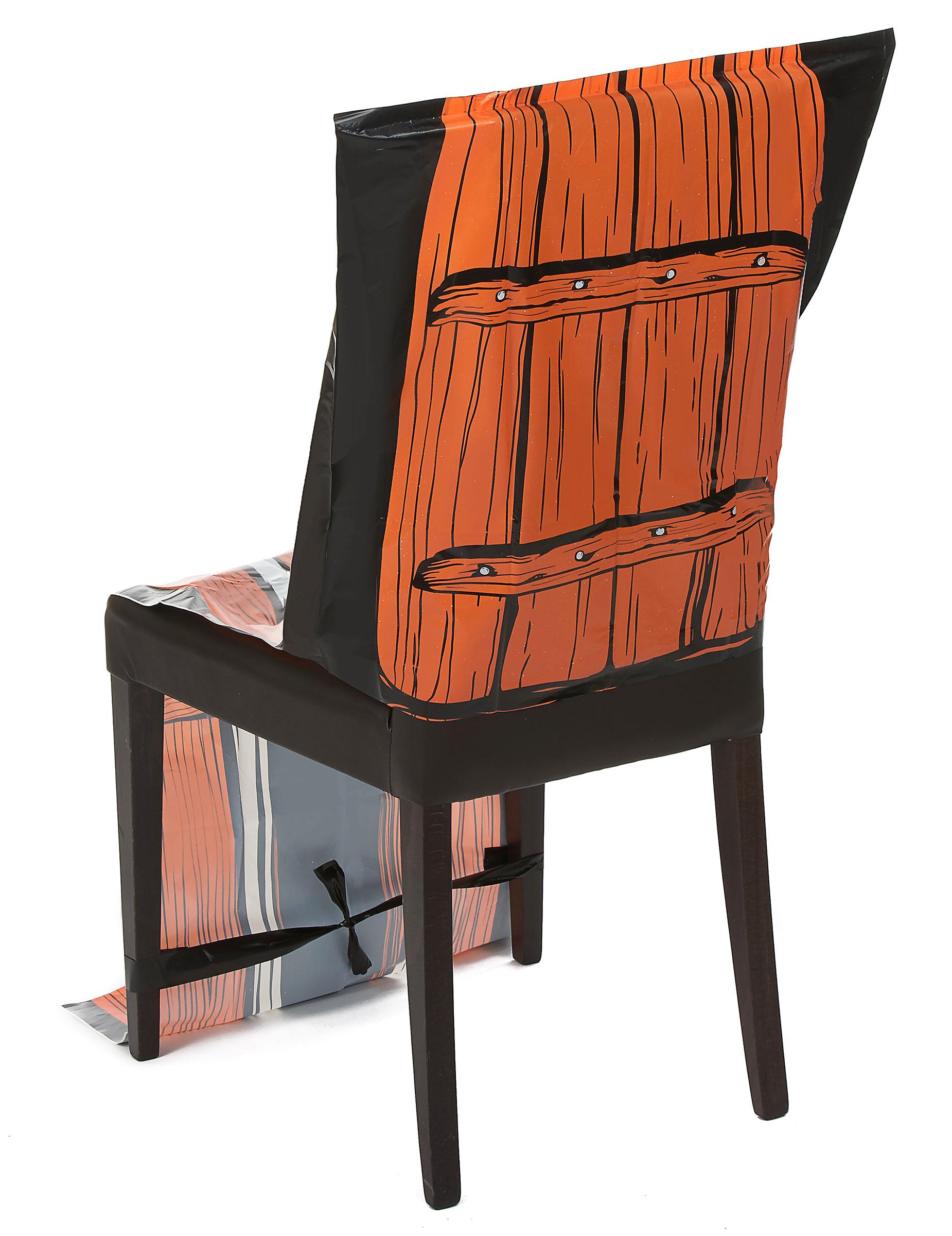 Housse chaise plastique squelette 45 x 140 cm halloween for Housse de chaise largeur 50 cm