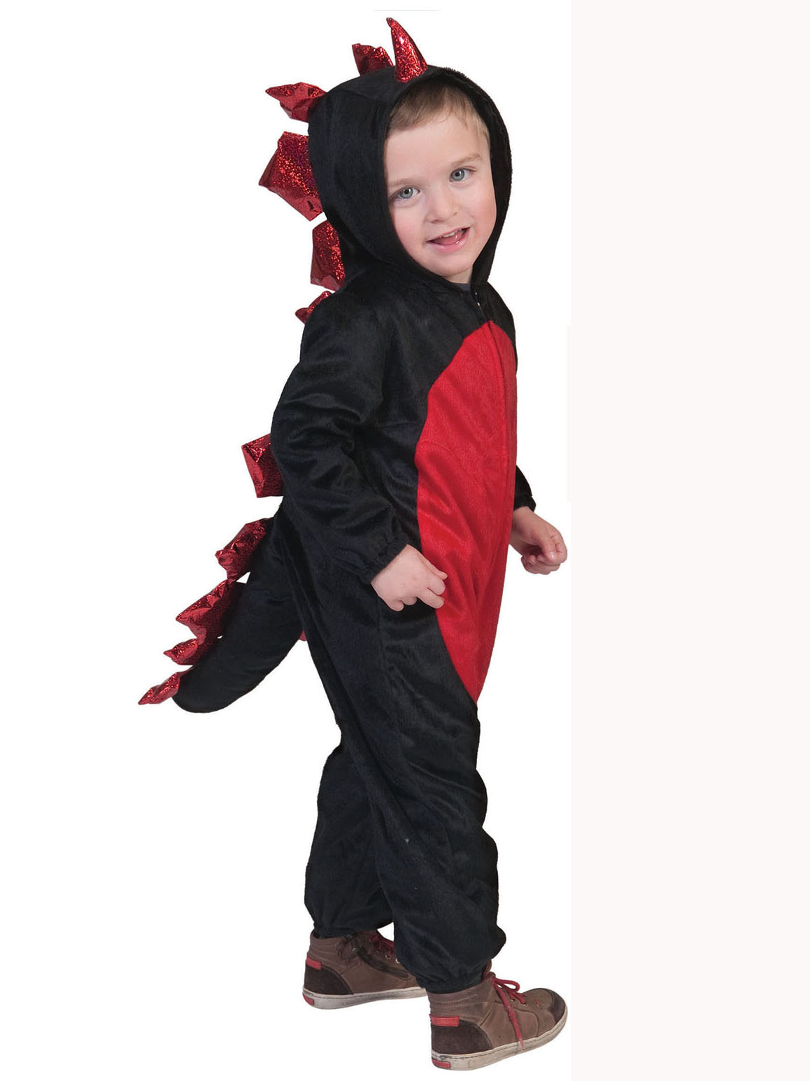 d guisement dragon noir et rouge enfant halloween. Black Bedroom Furniture Sets. Home Design Ideas