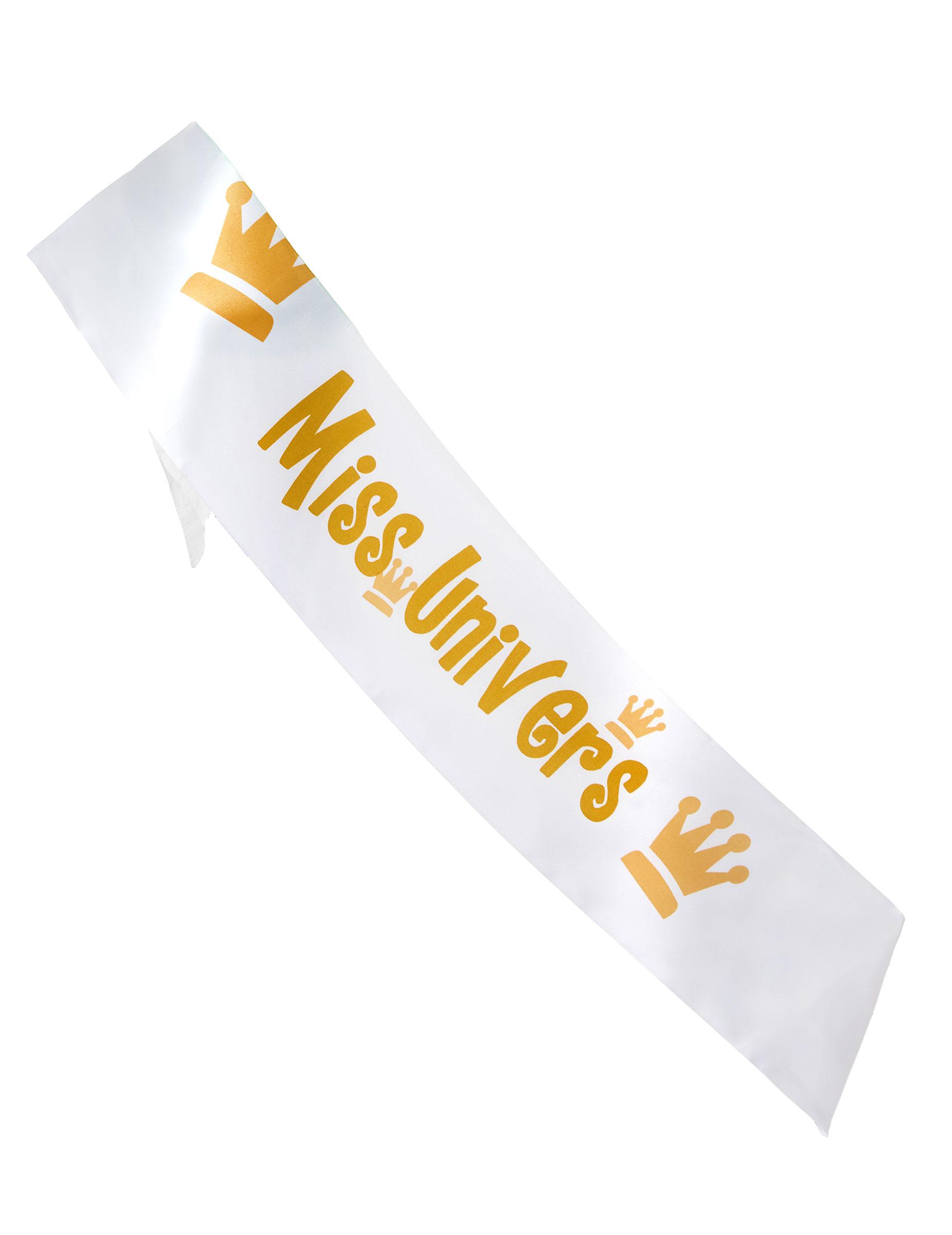 Echarpe Miss univers 80 x 14 cm   Deguise-toi, achat de Accessoires 14a433caeb3