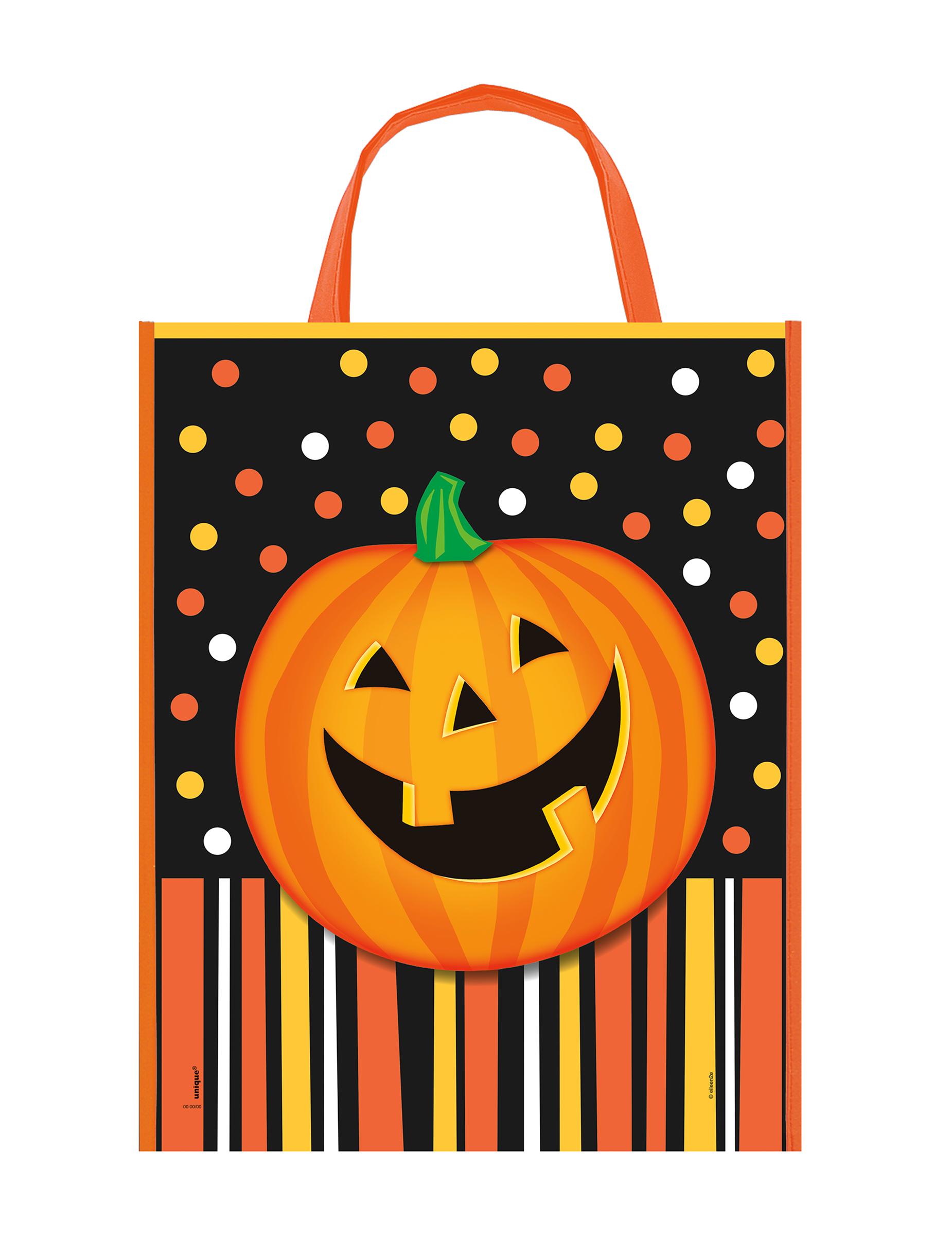 sac bonbons citrouille souriante halloween deguise toi achat de accessoires. Black Bedroom Furniture Sets. Home Design Ideas