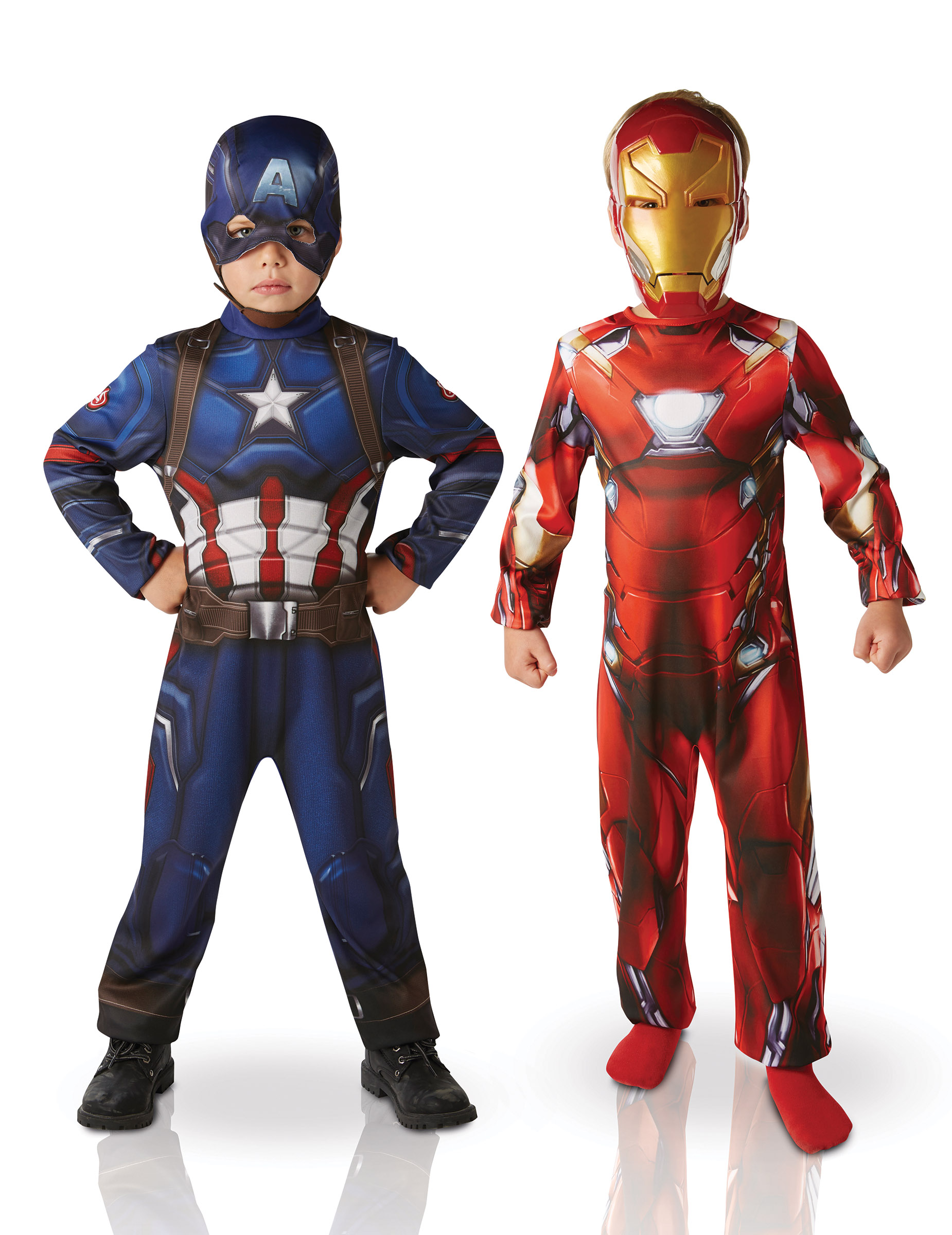 d guisement duo iron man et captain america civil war enfant deguise toi achat de. Black Bedroom Furniture Sets. Home Design Ideas