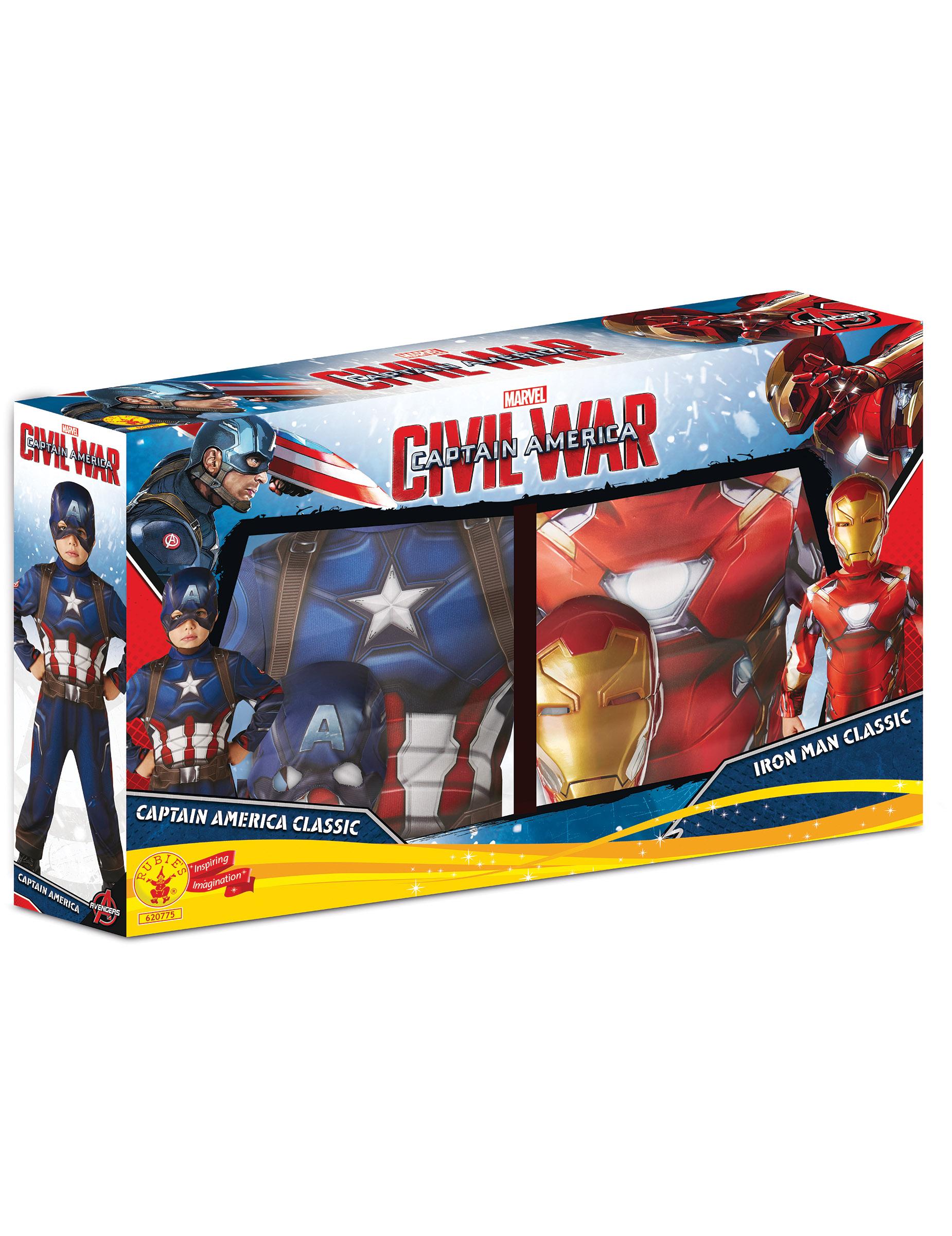 d guisement duo iron man et captain america civil war enfant deguise toi achat de. Black Bedroom Furniture Sets. Home Design Ideas