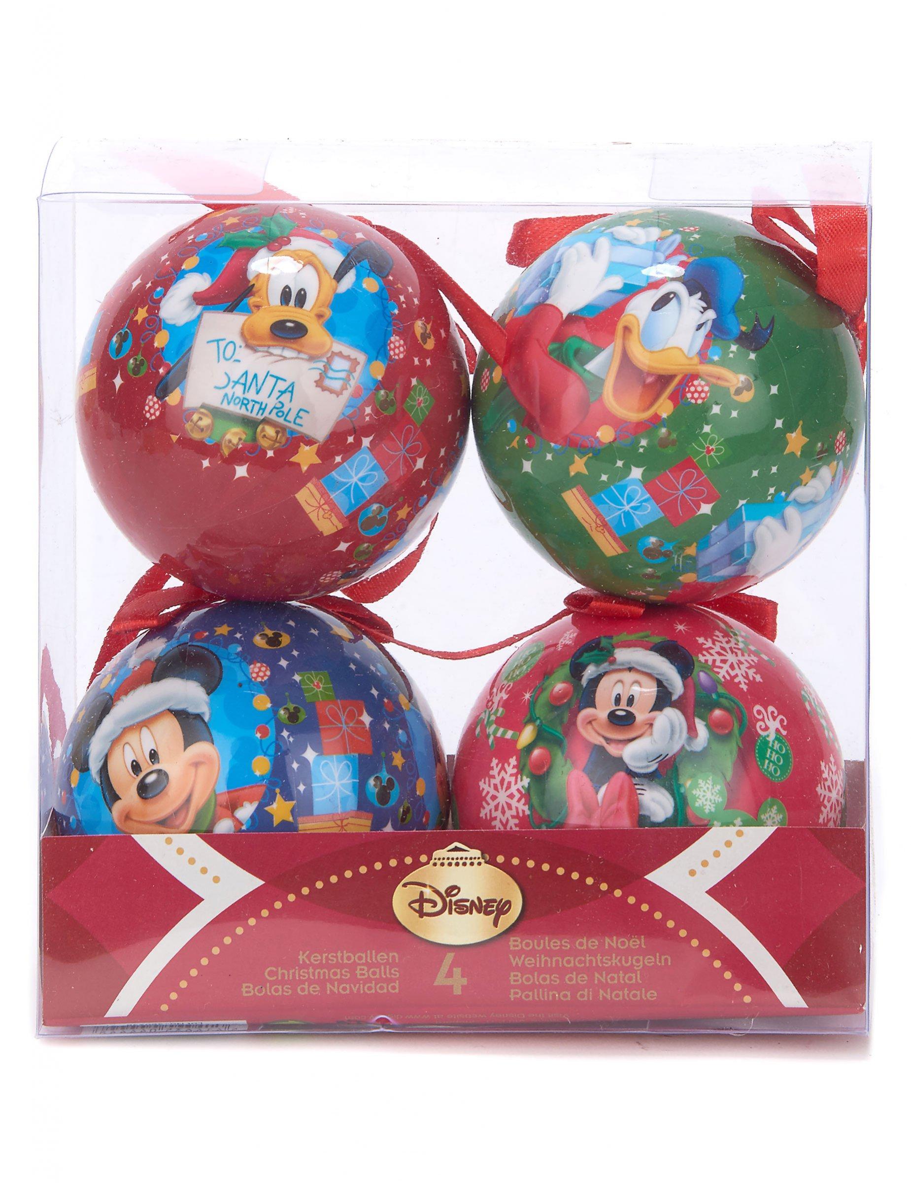 Connu 4 Boules de Noël Mickey™ 7,5 cm : Deguise-toi, achat de Decoration  LI21