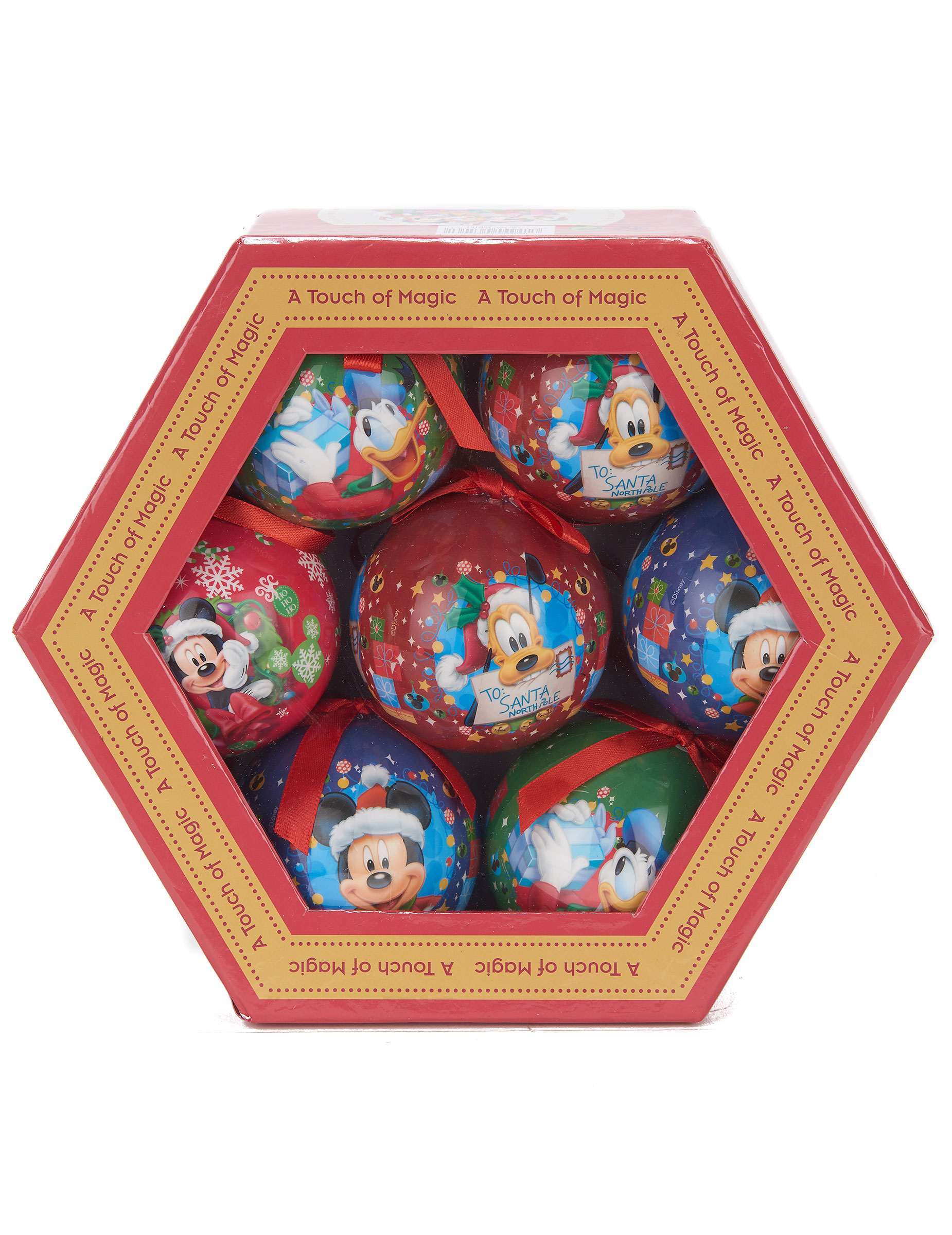 7 boules de noël mickey™ 7,5 cm : deguise-toi, achat de decoration