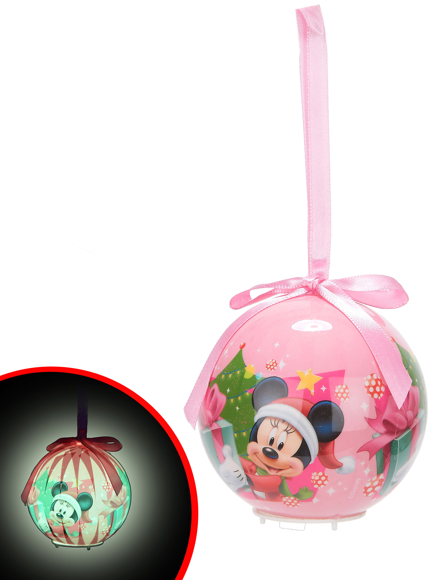 Boule lumineuse minnie 7 5 cm no l deguise toi achat for Animation decoration noel