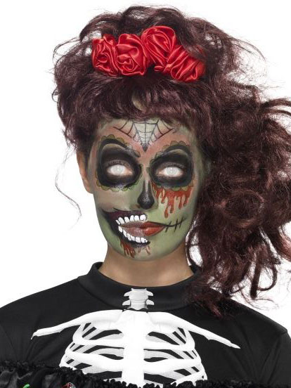 kit maquillage zombie femme dia de los muertos deguise toi achat de maquillage. Black Bedroom Furniture Sets. Home Design Ideas