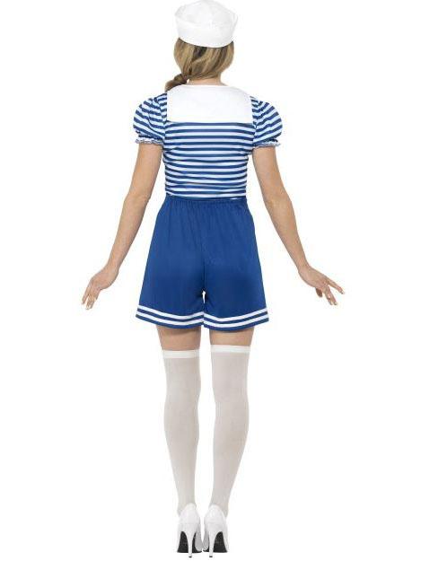 22f2f8446fbf9b Déguisement marin bleu en short femme
