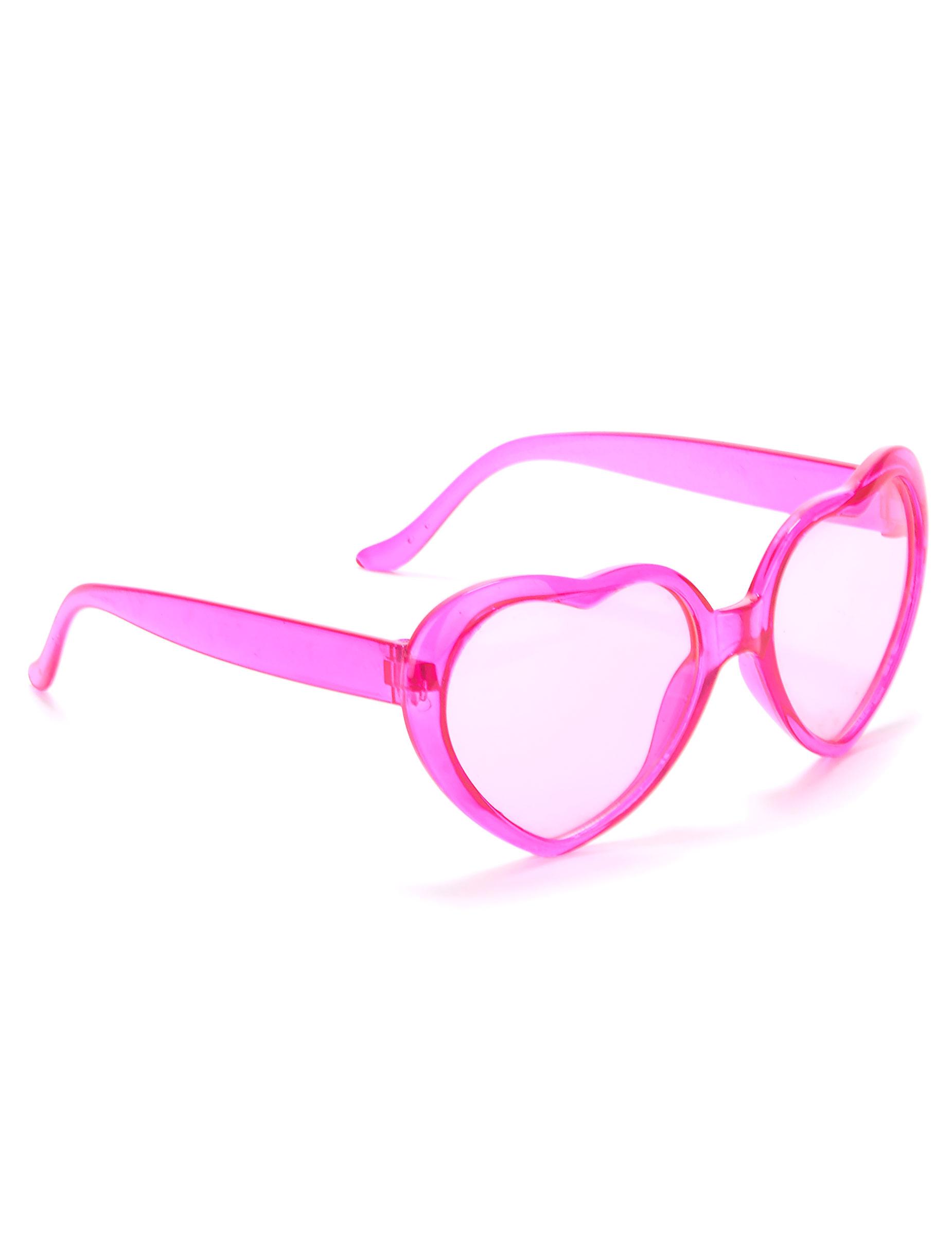 Lunettes roses coeur plastique adulte   Deguise-toi, achat de ... 9ddb6131e43e