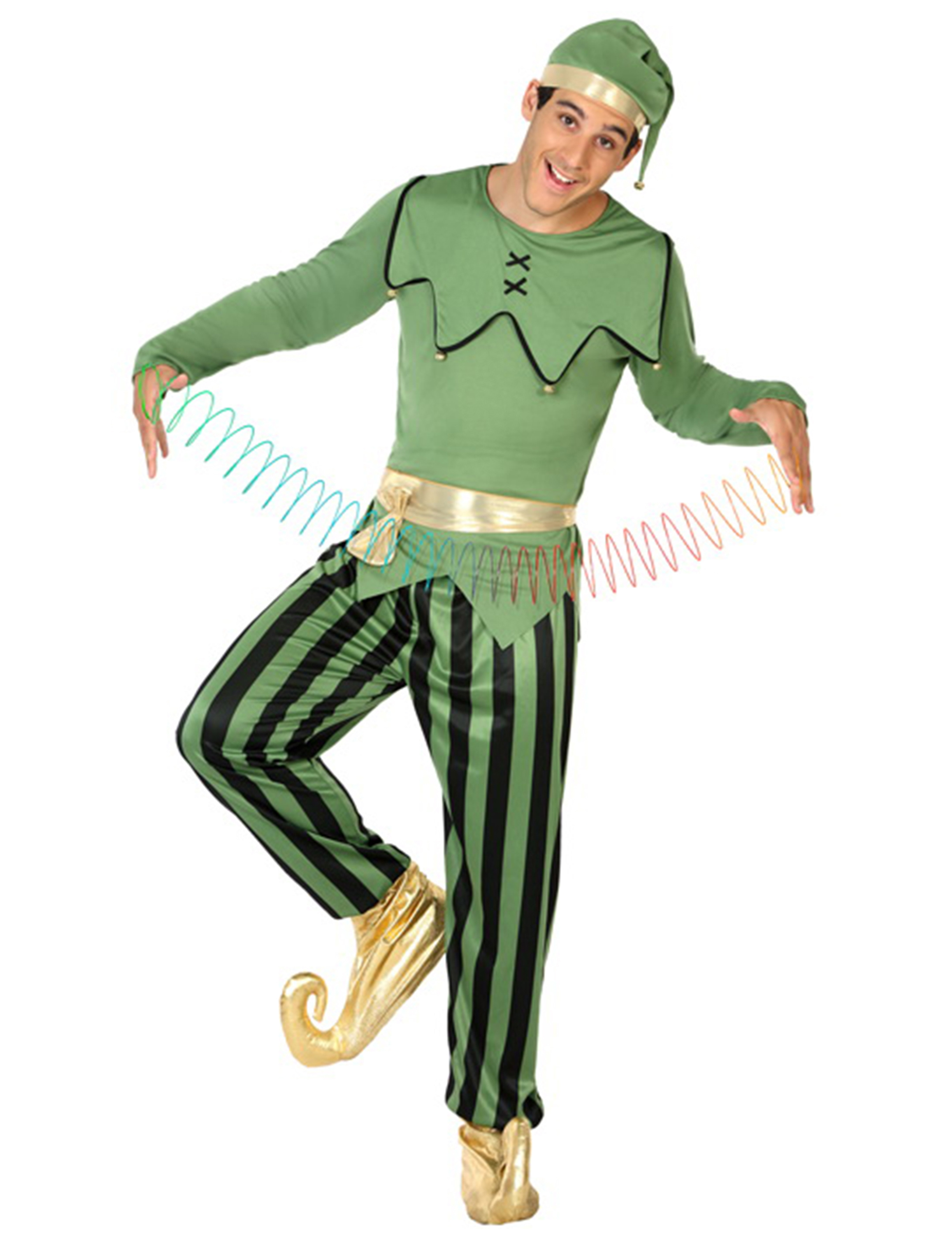 Déguisement elfe vert homme Noël