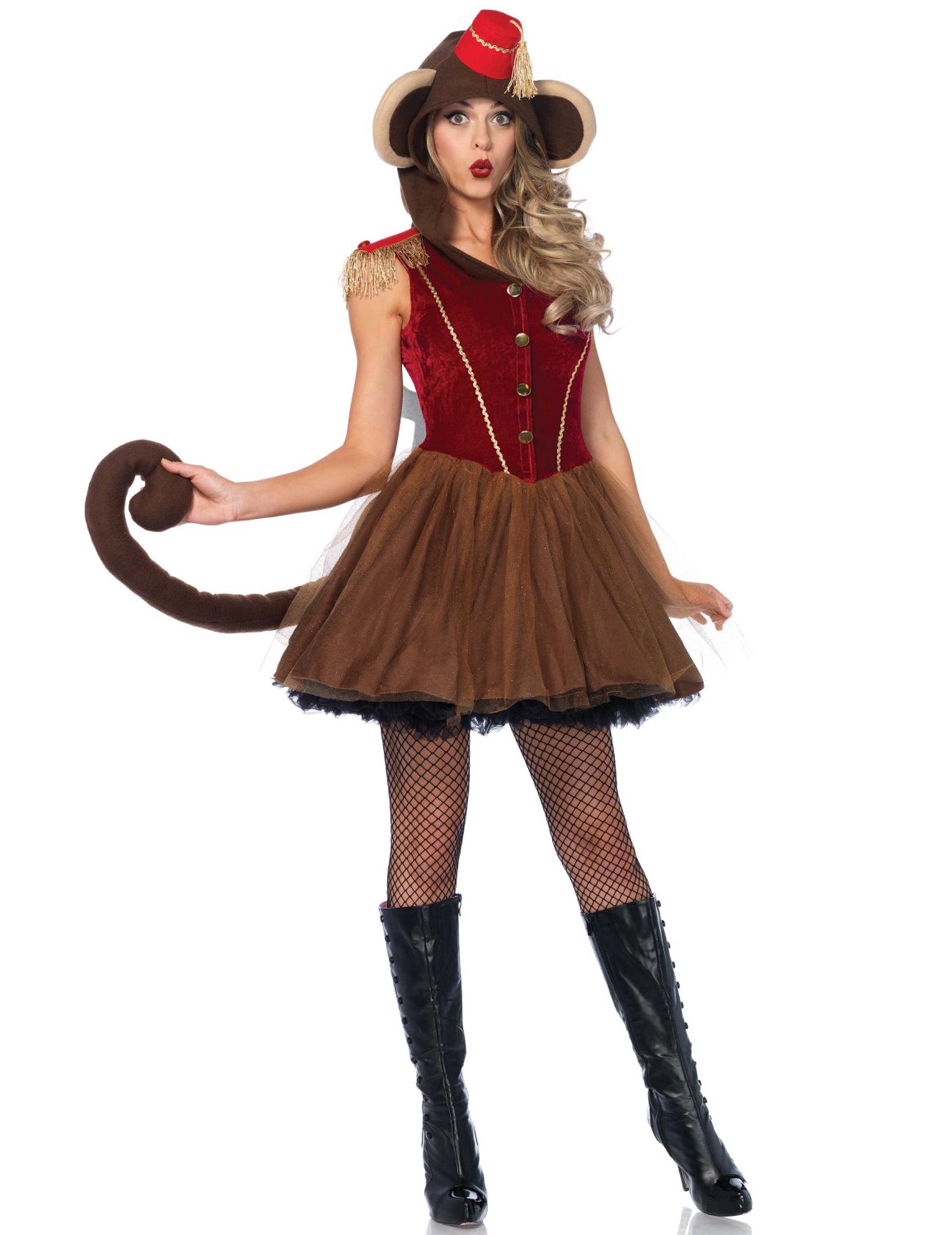 Adulte//Enfant Singe Oreilles Et Queue Lot Déguisement Serre-tête Accessoires Costume