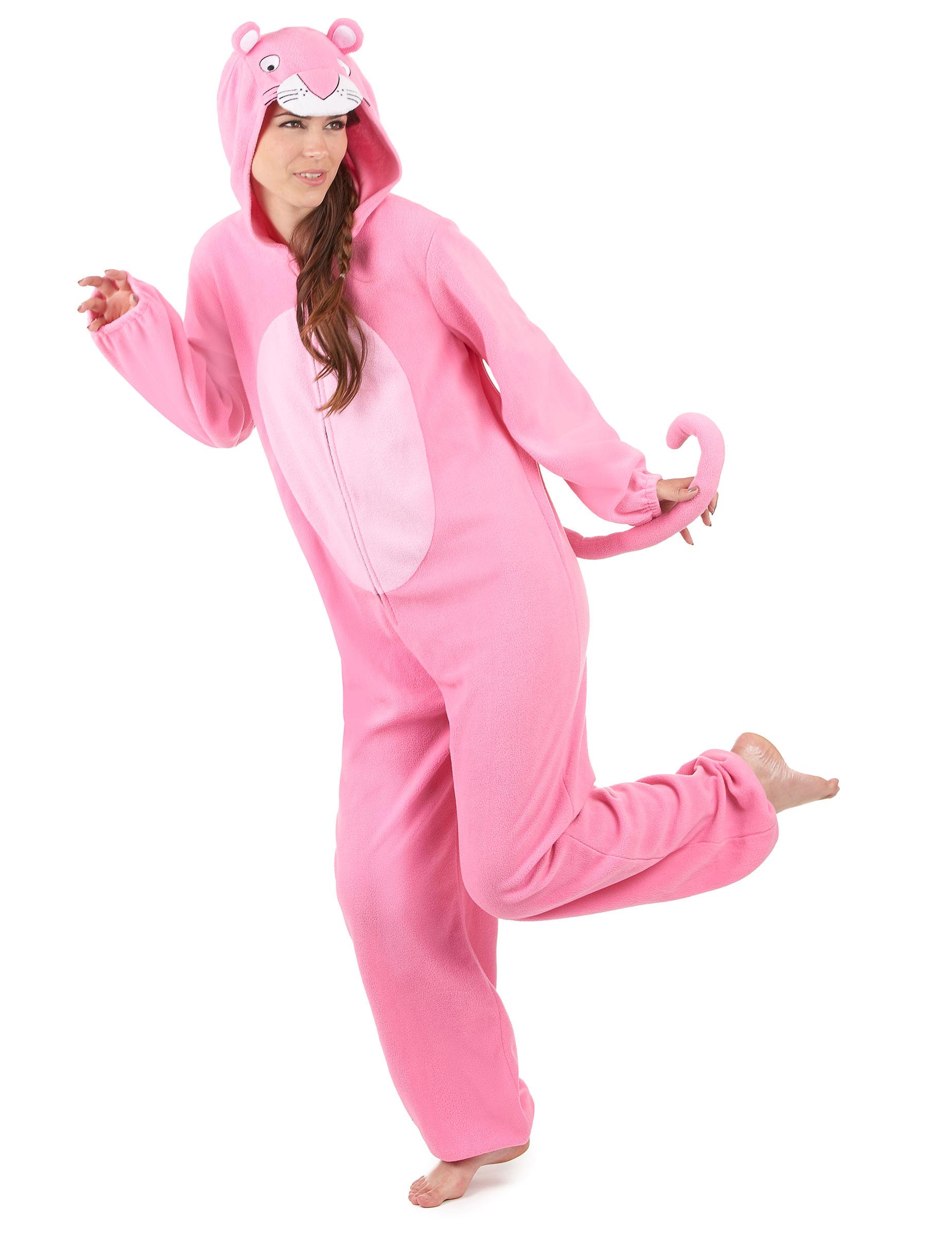 fabf4477976ddb Combinaison à capuche panthère rose femme : Deguise-toi, achat de ...