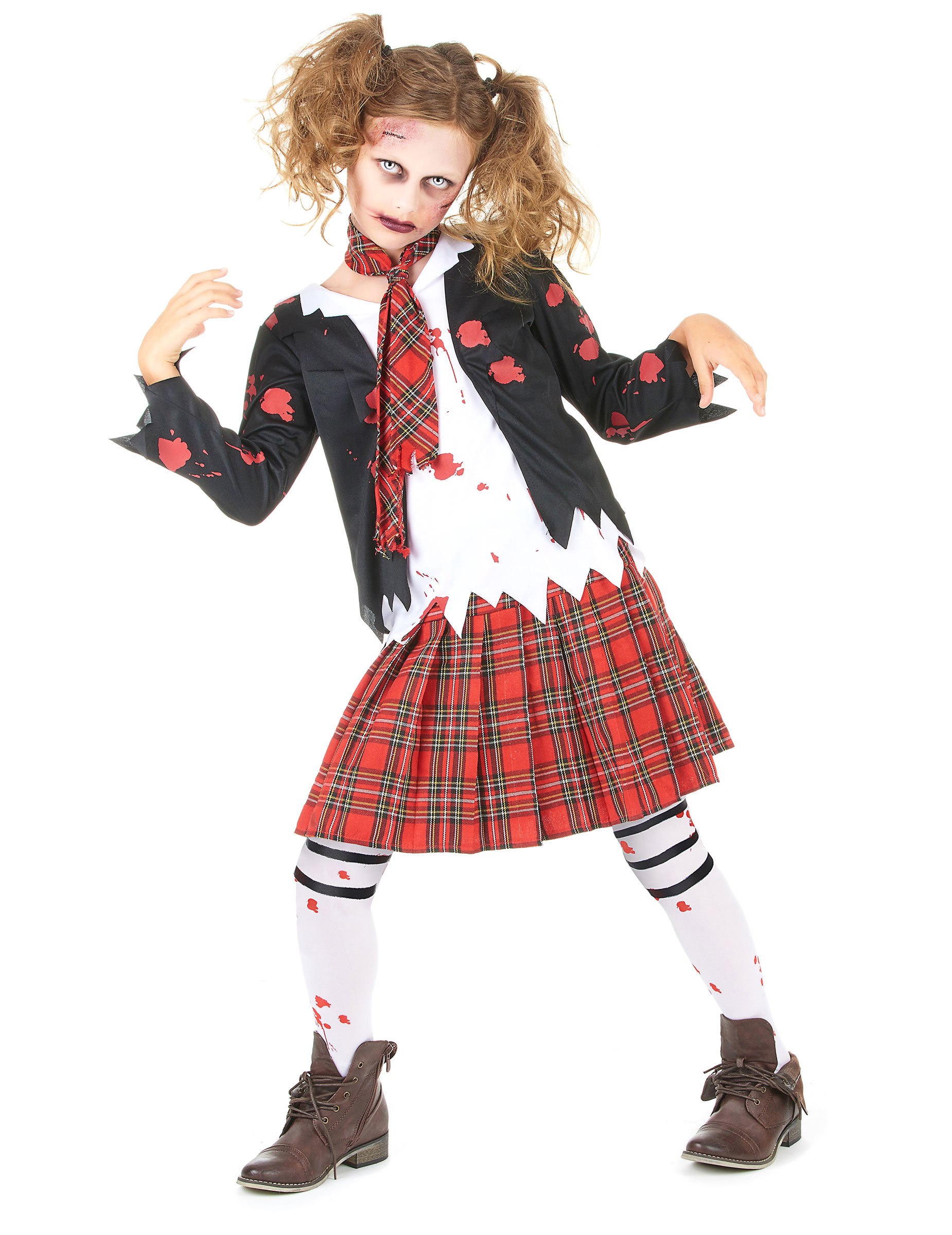 D guisement coli re zombie fille halloween deguise toi - Deguisement halloween enfant fille ...
