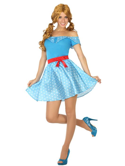 fce214115e8 Déguisement robe années 50 bleue   Deguise-toi