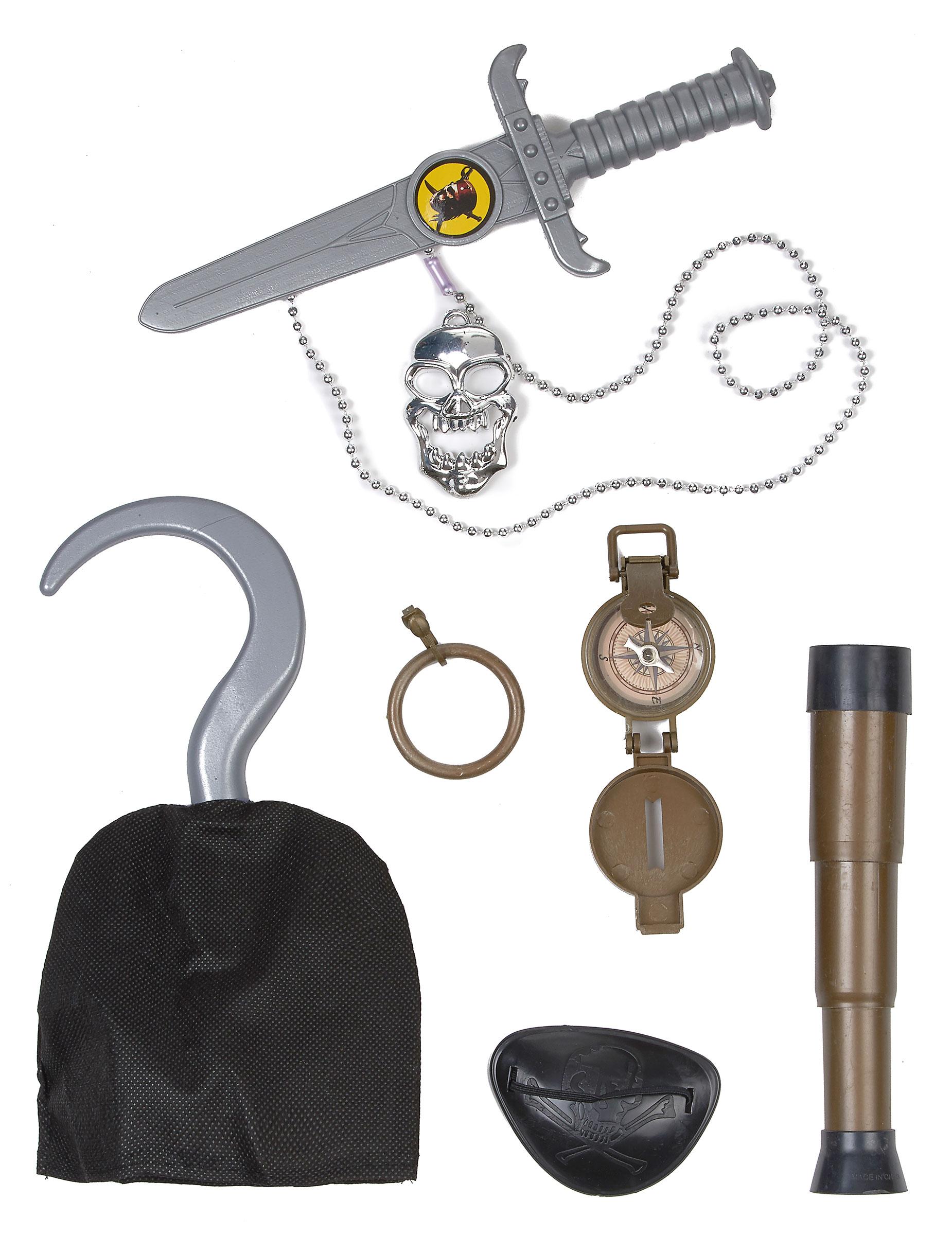 bb20c7a9de6 Kit accessoires chef des pirates enfant   Deguise-toi